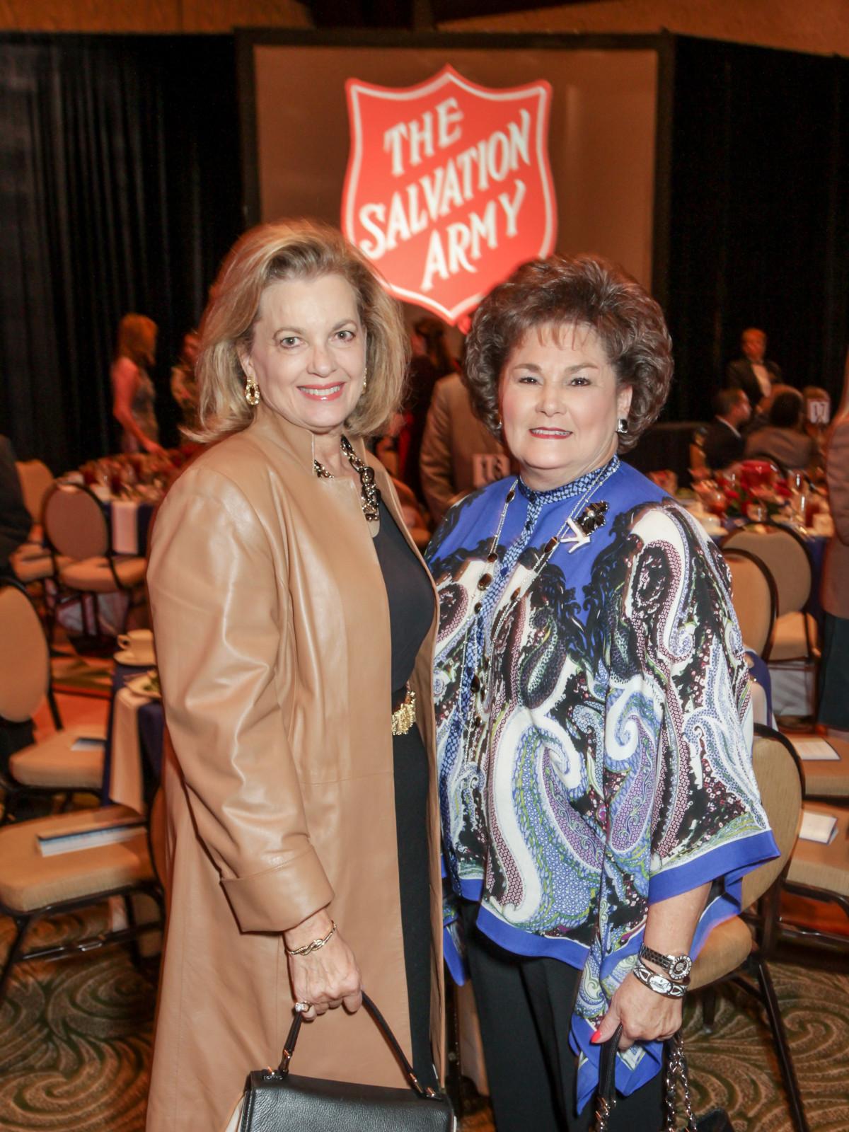 News, Shelby, Salvation Army luncheon, Nov. 2015, Nancy Gordon, Barbara Robertson