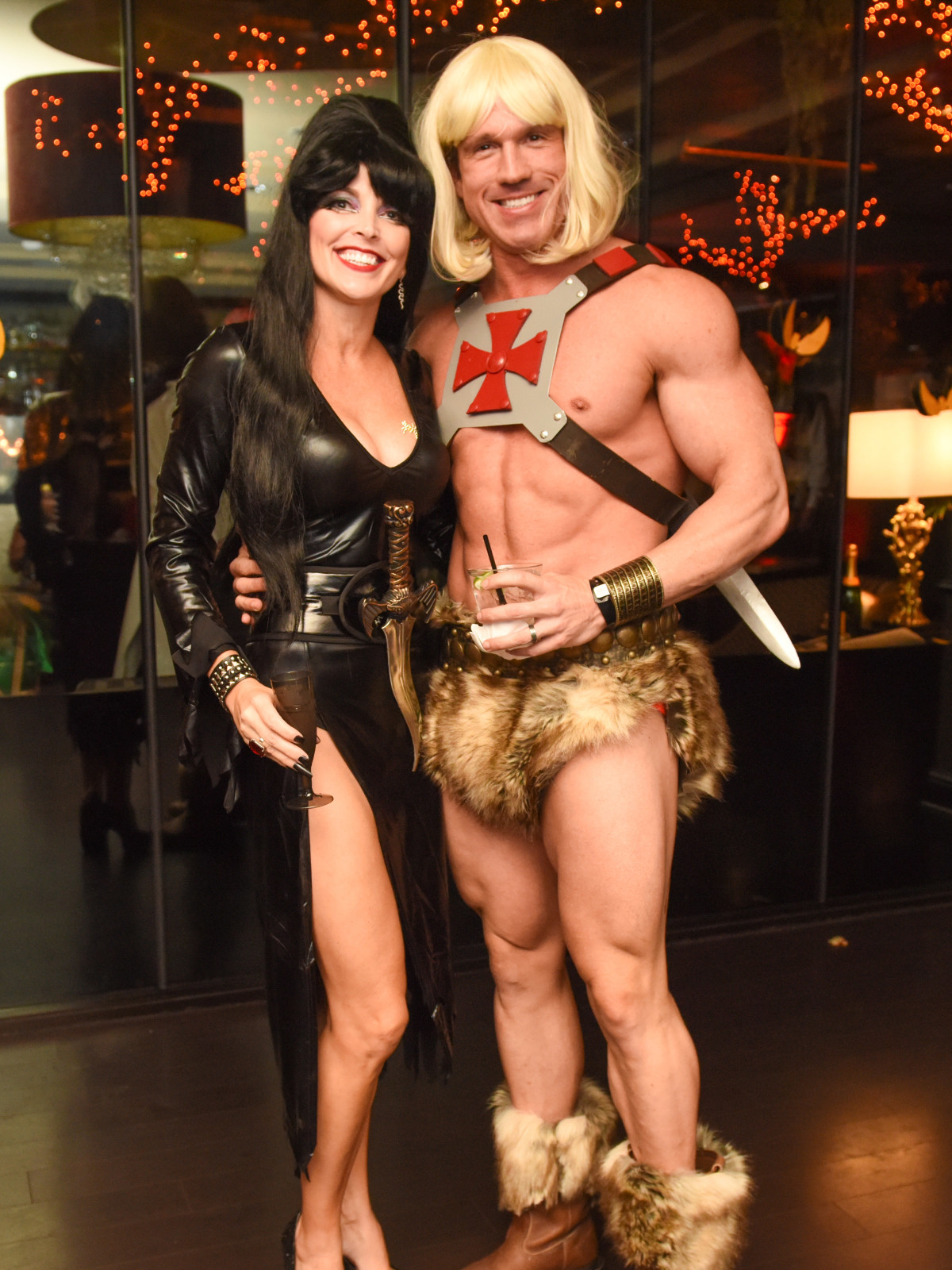 News, Shelby, Hotel ZaZa Halloween, Oct. 2015 Trini and Jeff  Hurley