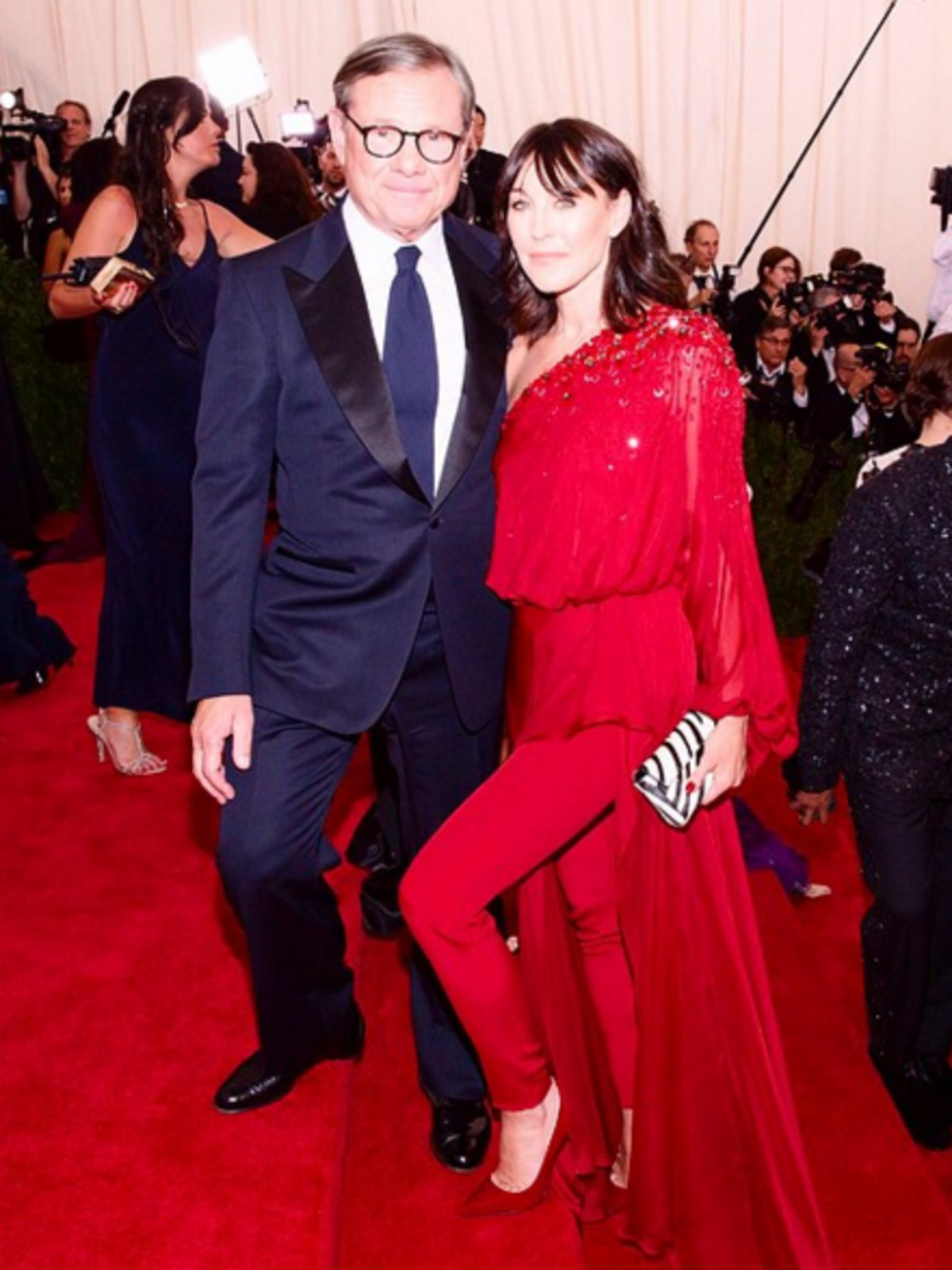 Tamara Mellon and Michael Ovitz at the Met Ball