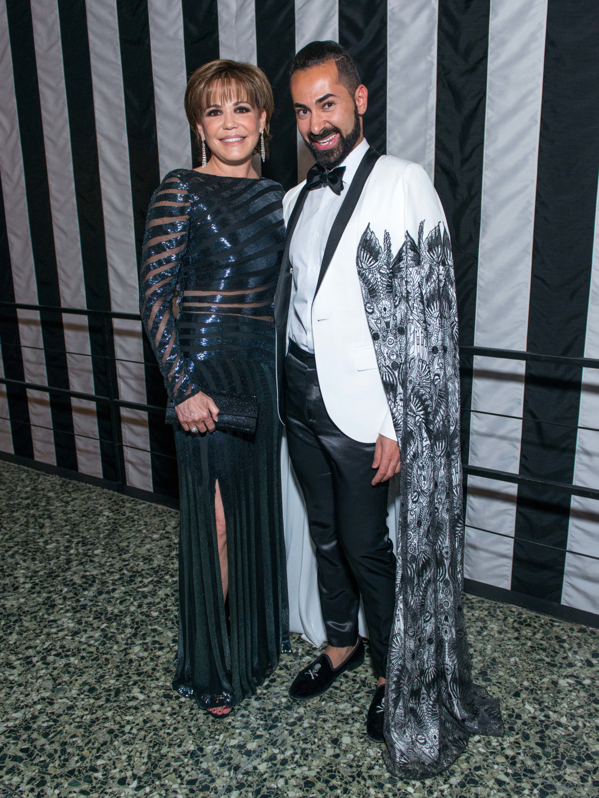 News, Shelby, MFAH gala gowns, Oct. 2015 Hallie Vanderhider in Pamela Roland, Fady Armanious in Tadashi