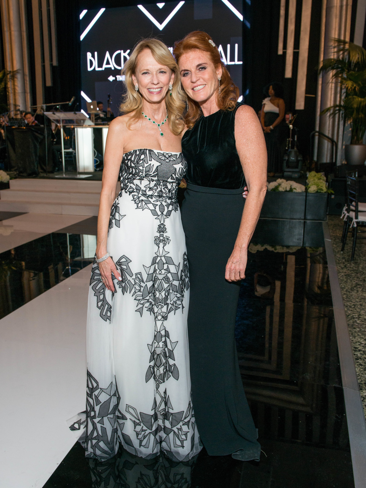News, Shelby, MFAH gala gowns, Oct. 2015 Susan Sarofim in Naeem Khan, Sarah Ferguson in Max Mara