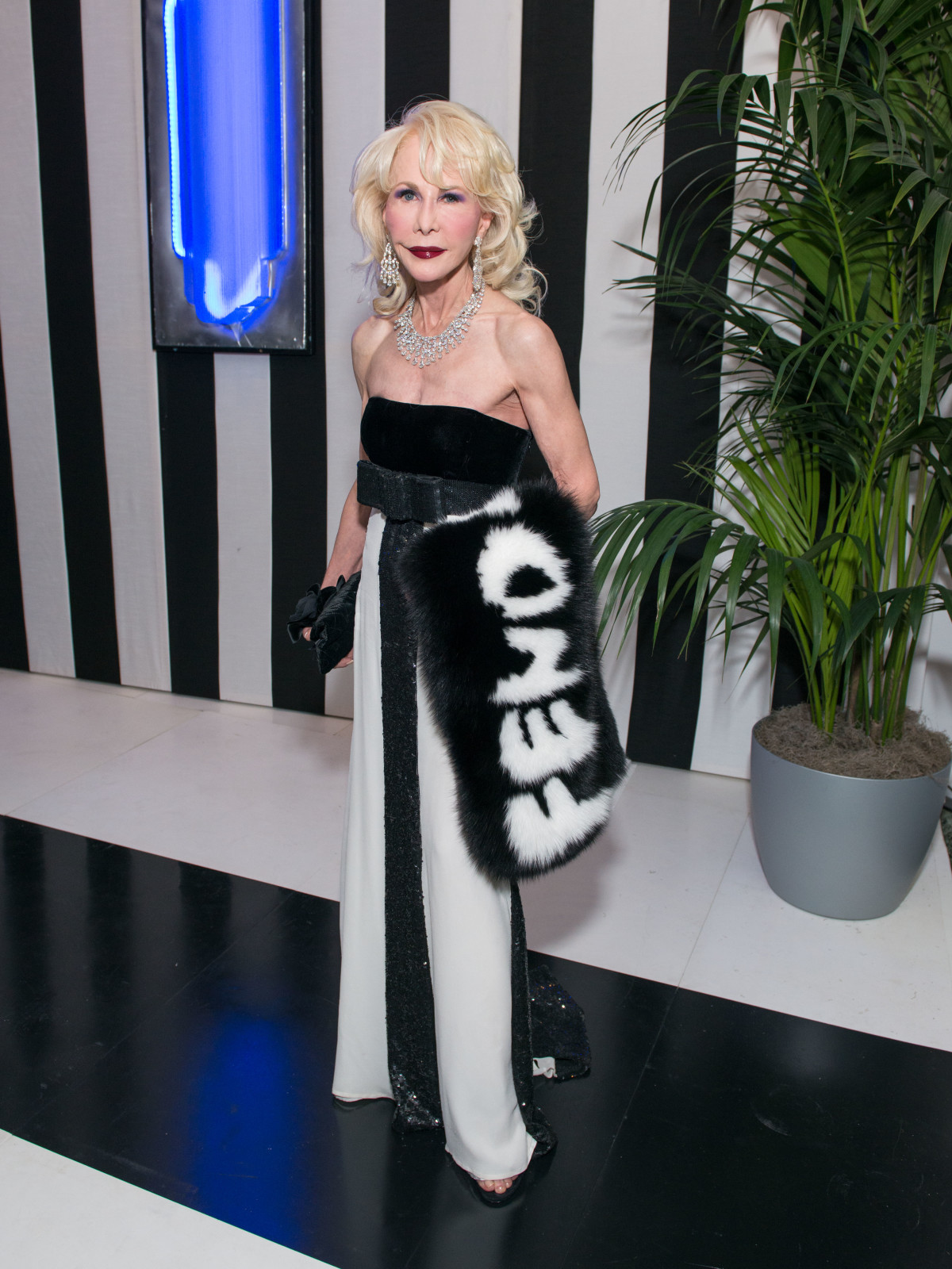 News, Shelby, MFAH gala gowns, Oct. 2015 Diane Lokey Farb, Valentino gown, Fendi fur