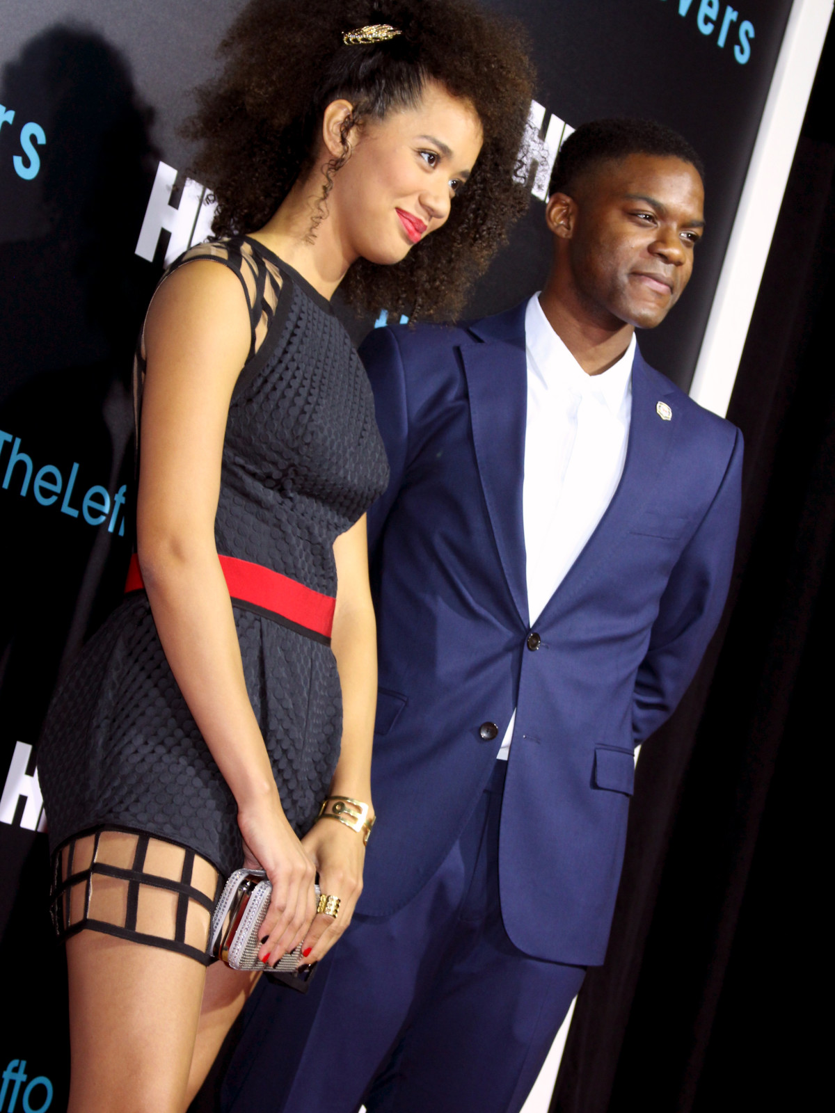 The Leftovers HBO Season 2 red carpet premiere Jasmin Savoy Brown Jovan Adepo October 2015
