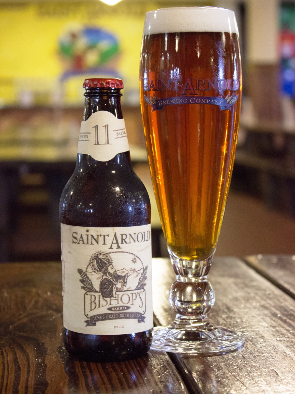 Saint Arnold Bishop's Barrel 11 glass