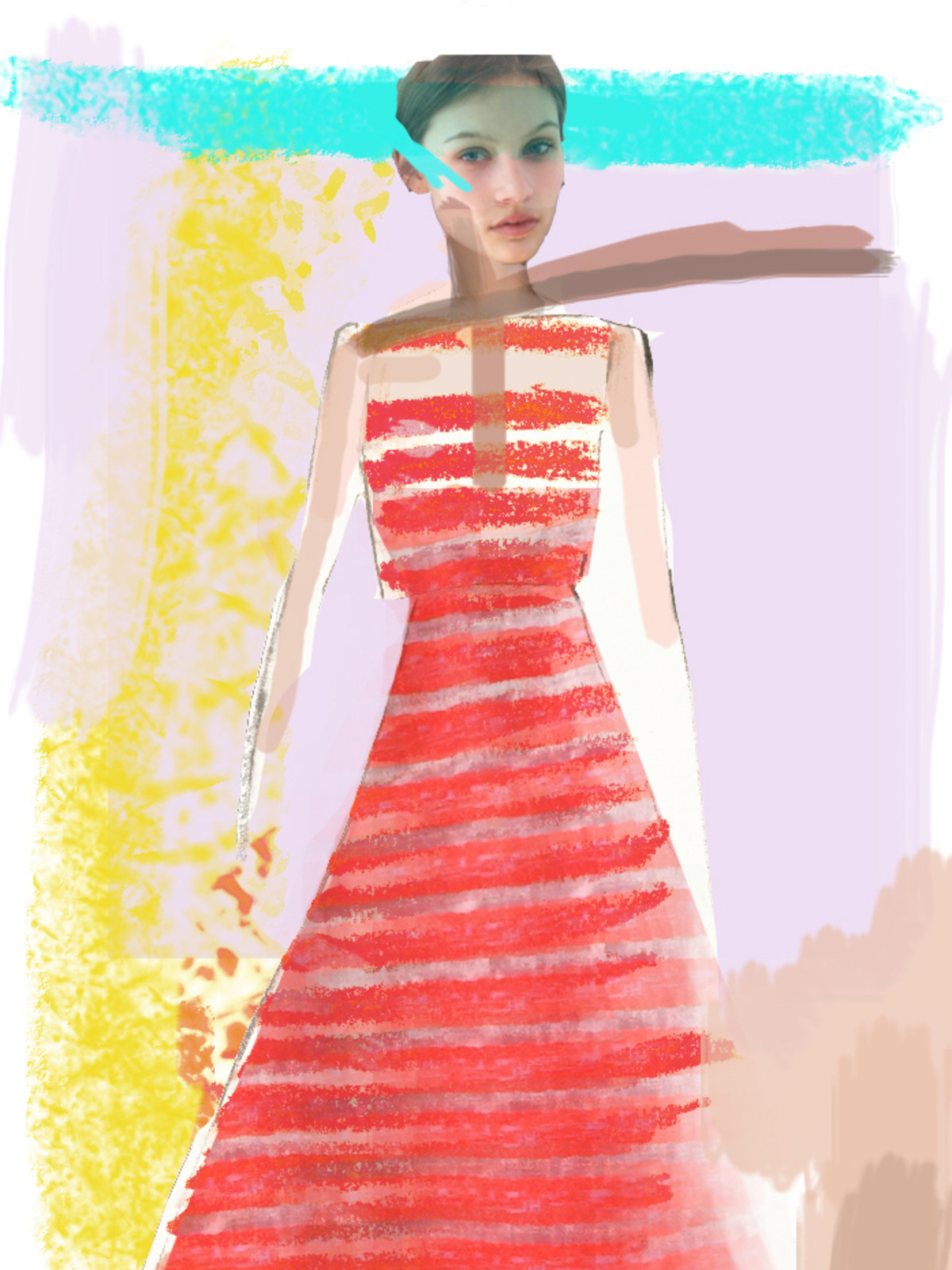 Lela Rose inspiration sketch New York Fashion Week spring 2015