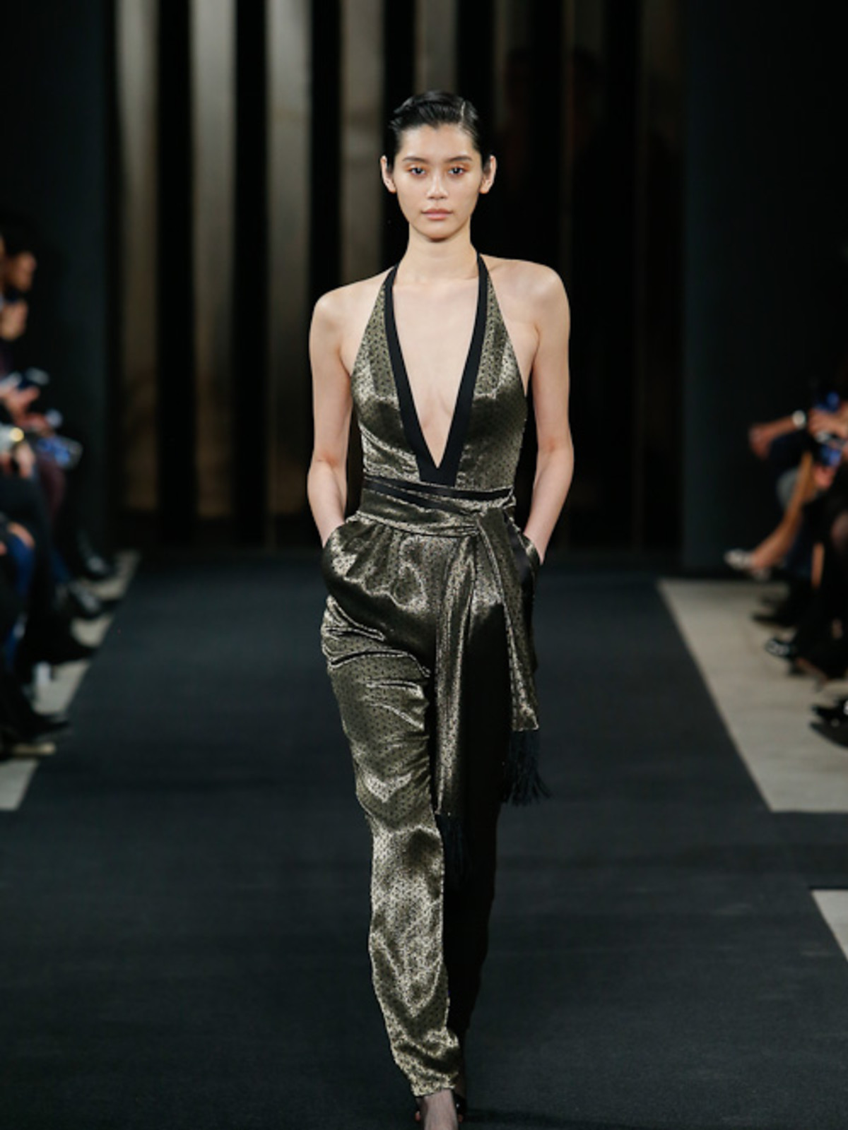 J Mendel fall 2015 collection jumpsuit