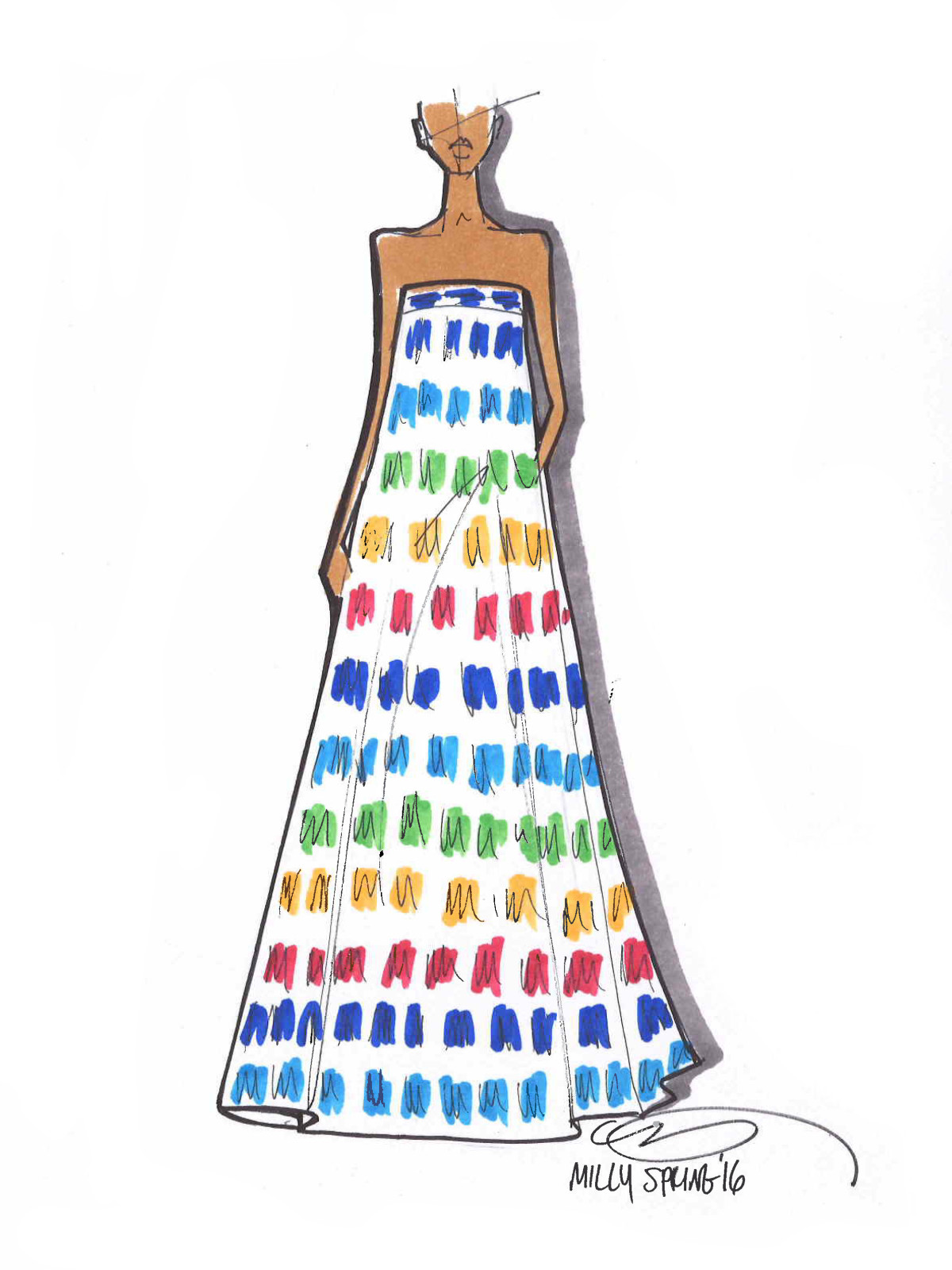 Milly inspiration sketch New York Fashion Week spring 2016