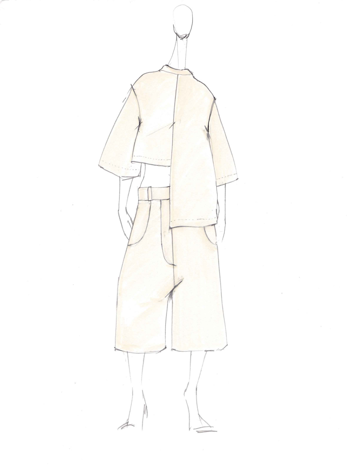 Ji Oh inspiration sketch New York Fashion Week spring 2016