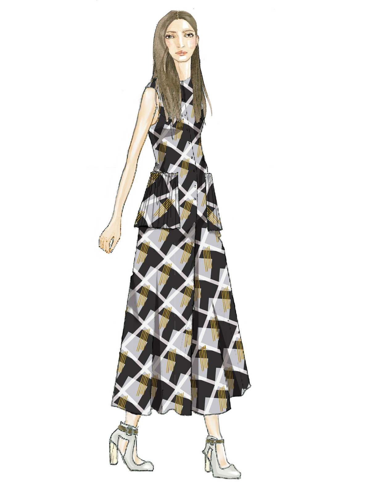 Suno inspiration sketch New York Fashion Week