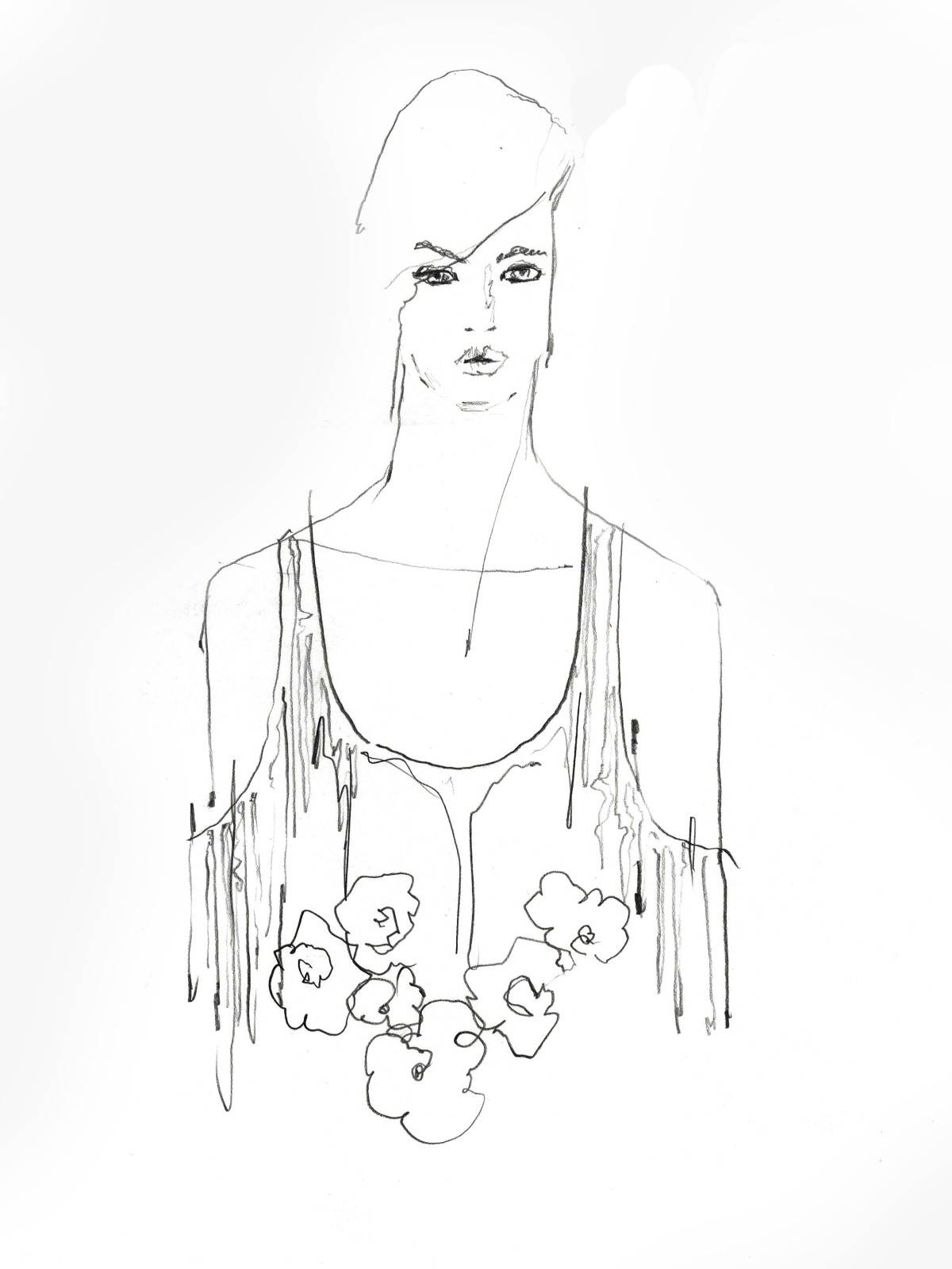 Wes Gordon inspiration sketch New York Fashion Week spring 2016