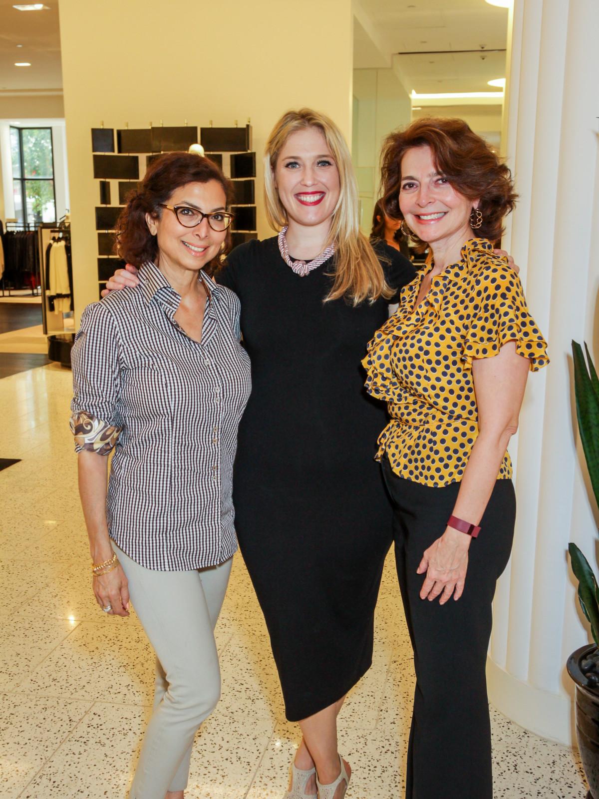 Houston, Ellevate event at Tootsies, August 2015, Shushana Castle, Jennifer Roosth, Lidya Osadchey