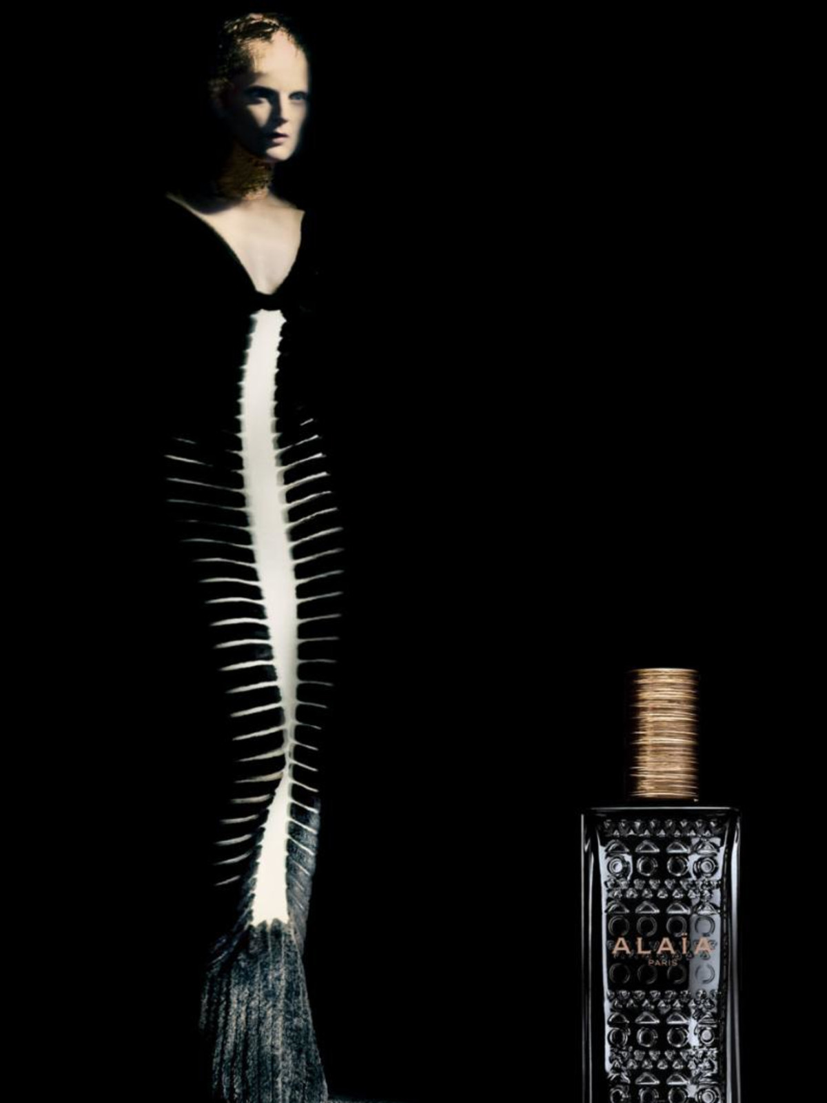 Alaia fragrance at Saks Fifth Avenue ad campaign