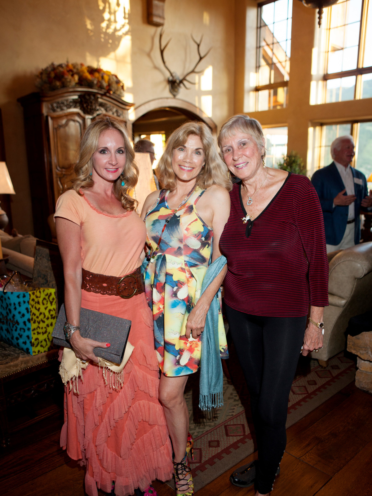 Houston, St. Luke's Foundation Summer Speaker Series Aspen, August 2015, Sharin Norman, Barbi Benton-Gradow, Helga Matuska