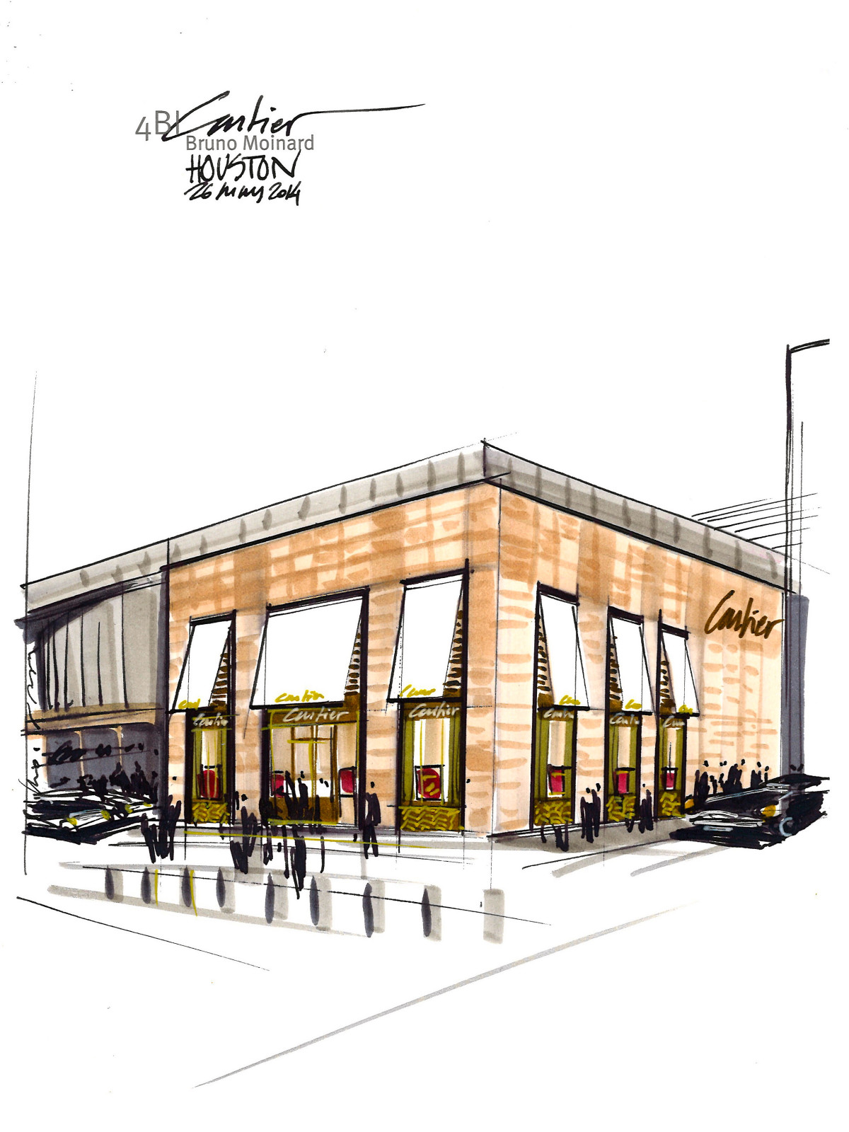 Rendering of new Cartier store in River Oaks District