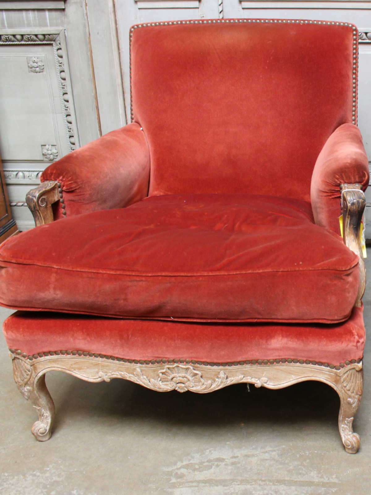 French Regence Bergere chair