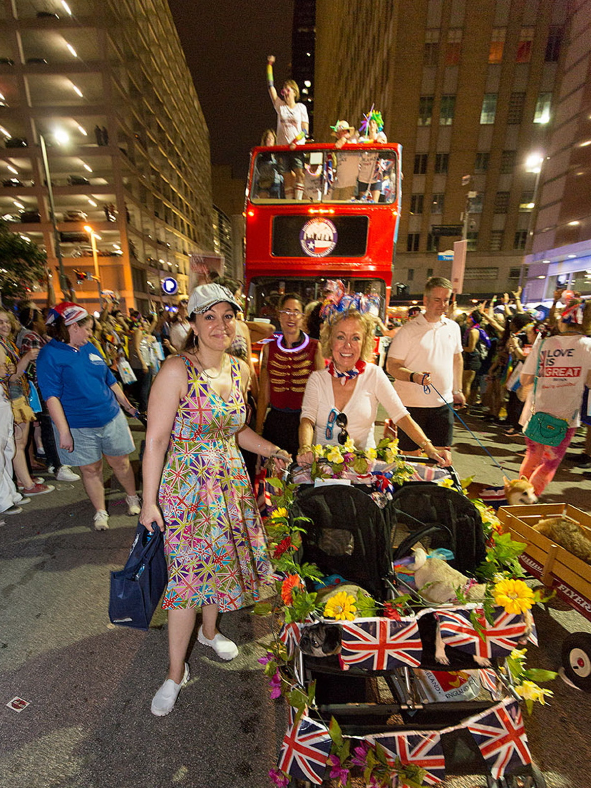 Houston Pride 2015 British bus couple