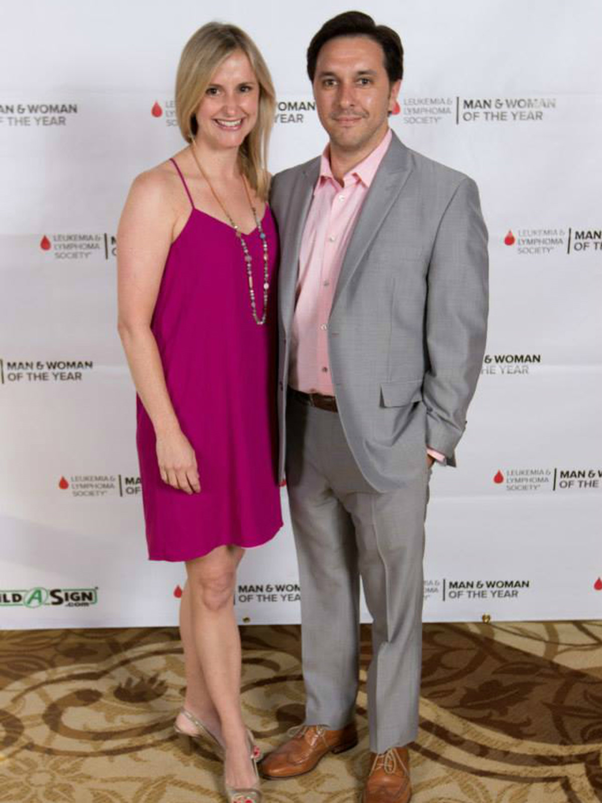 Leukemia & Lymphoma Society's Man & Woman of the Year Gala_Lacey Appolito_Brett Appolito_2015