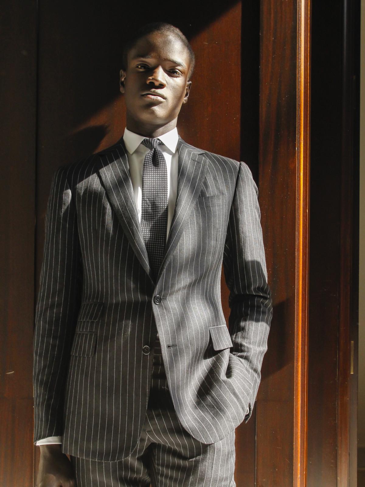 Ralph Lauren Purple Label Spring 2016 collection brown suit