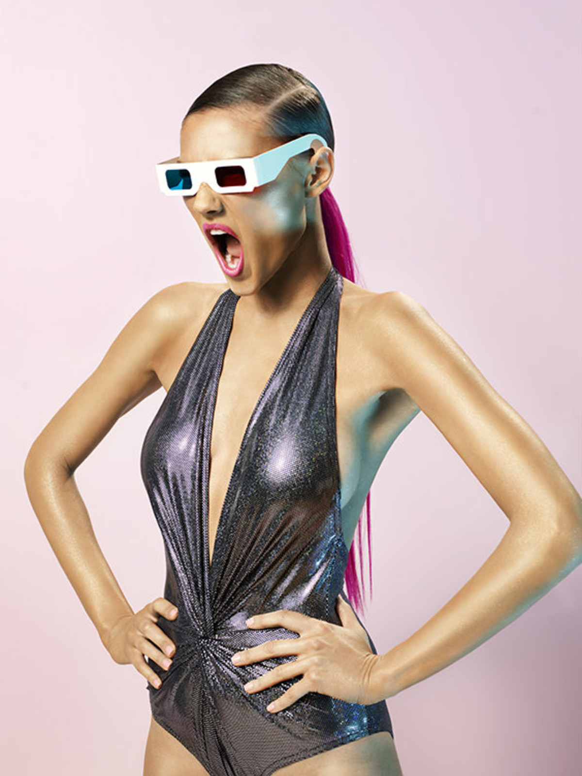 Karla Colletto Hologram swimsuit