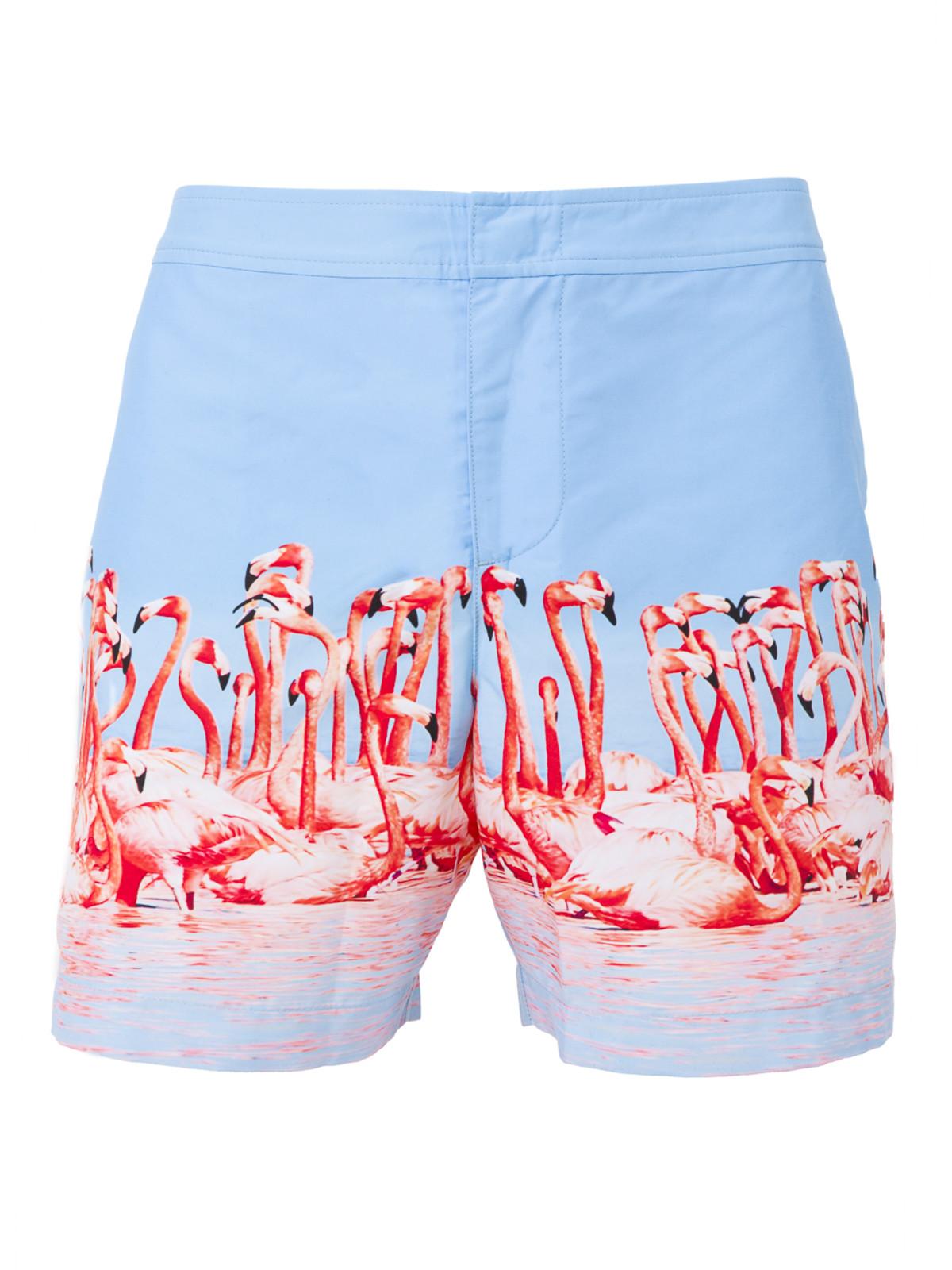 Orlebar Brown flamingo swim shorts in The Webster Lane Crawford collaboration