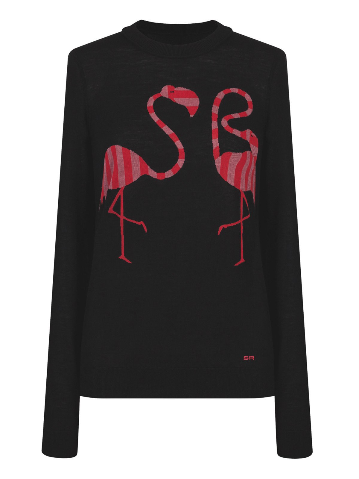 Sonia Rykiel intarsia flamingo sweater The Webster Lane Crawford collaboration