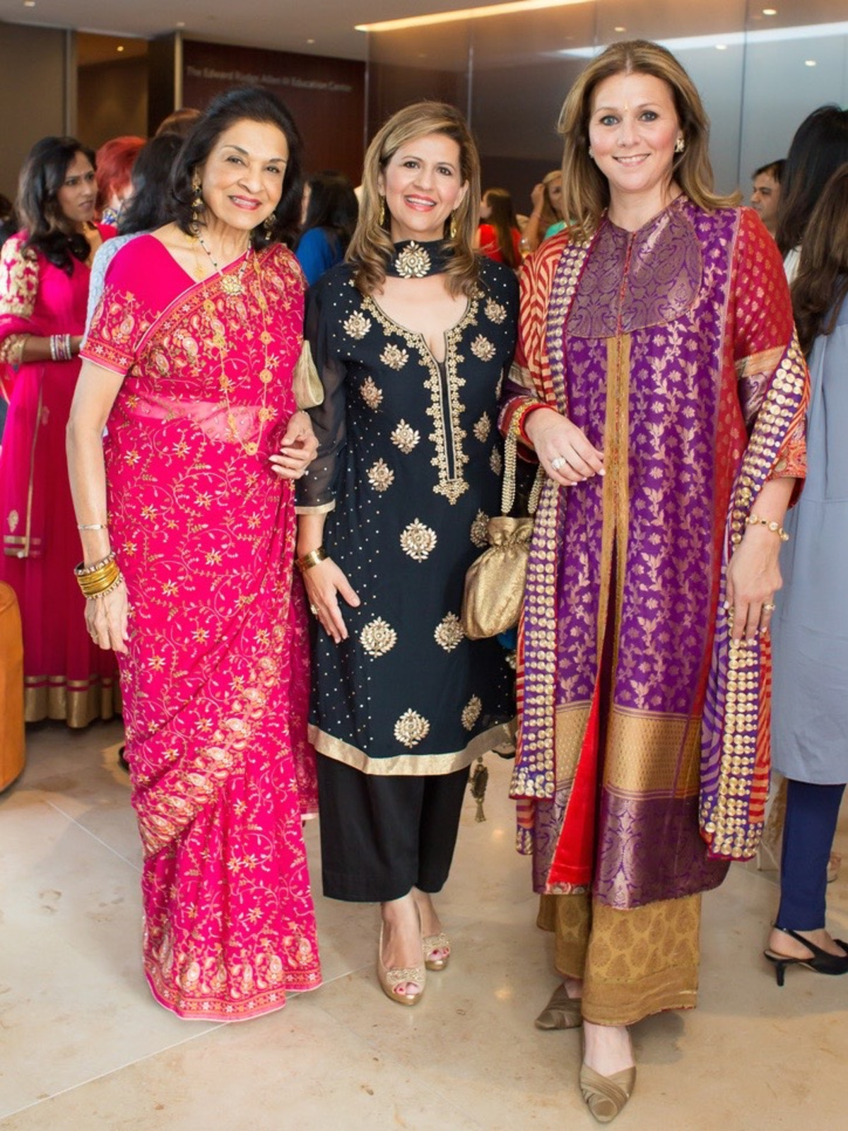 Monjula Chidambaram, Mehrnaz Gill, Donatella Benckenstein at International Mother's Day Soiree