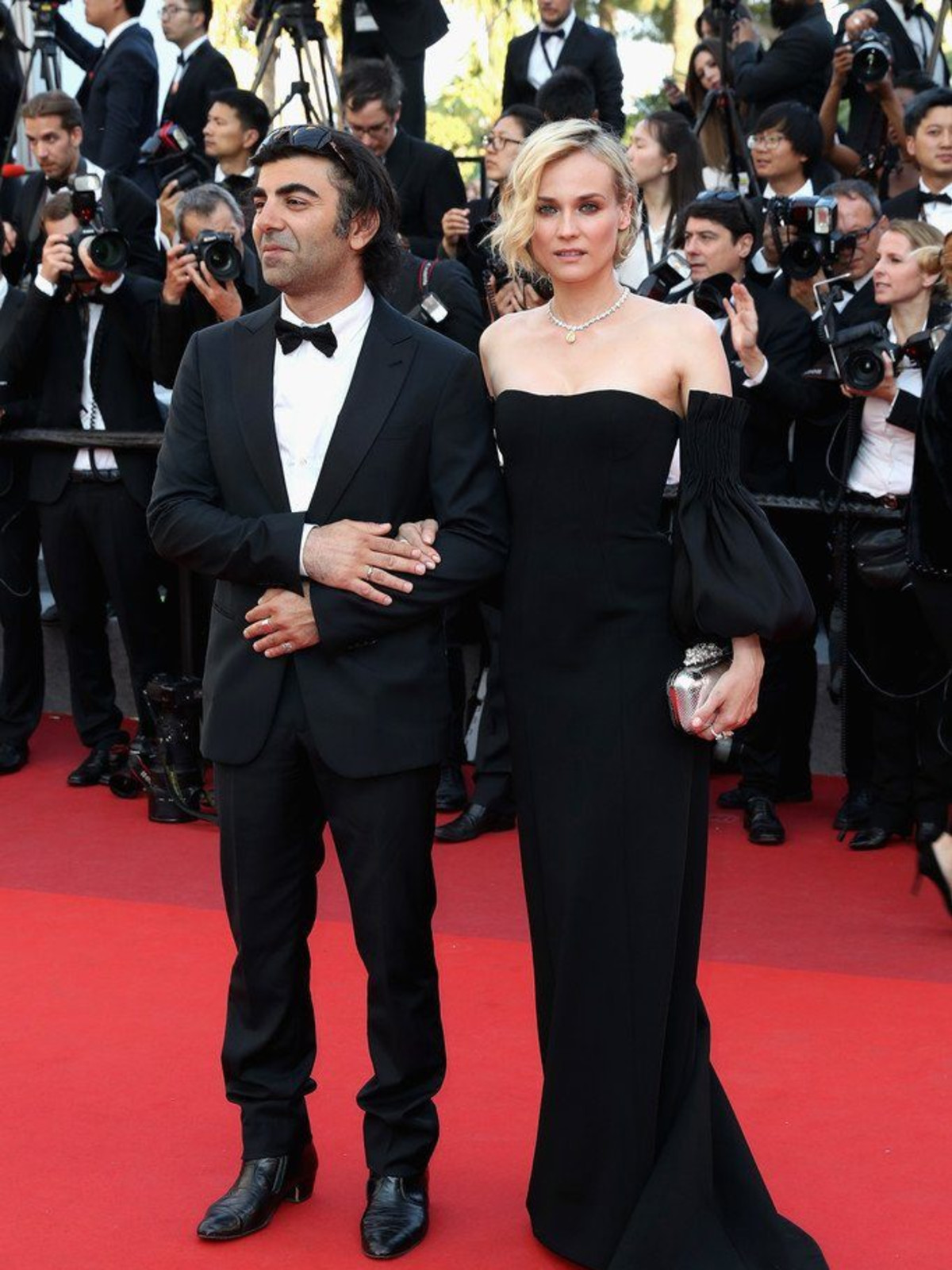 Diane Kruger at Cannes Film Festival in Jonathan Simkhai gown