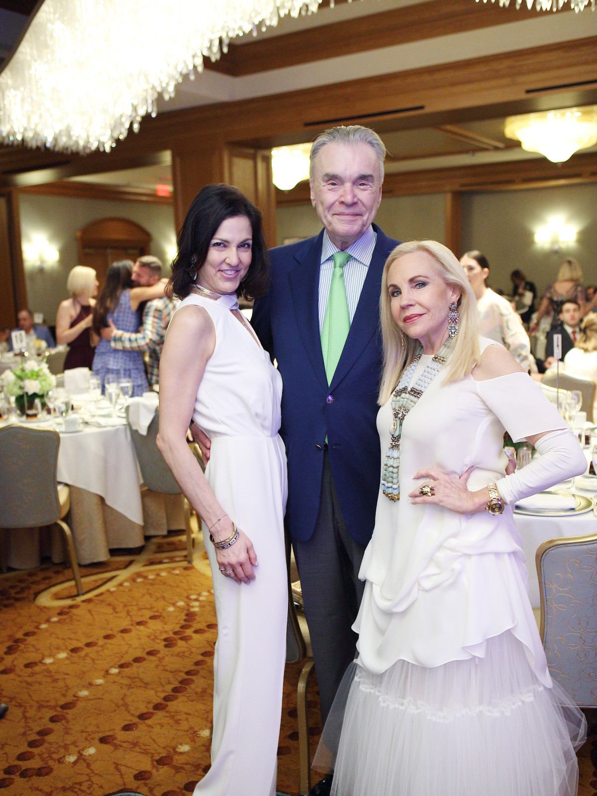 Jessica Rossman, Gordon Bethune, Carolyn Farb at Great Age Movement fundraiser