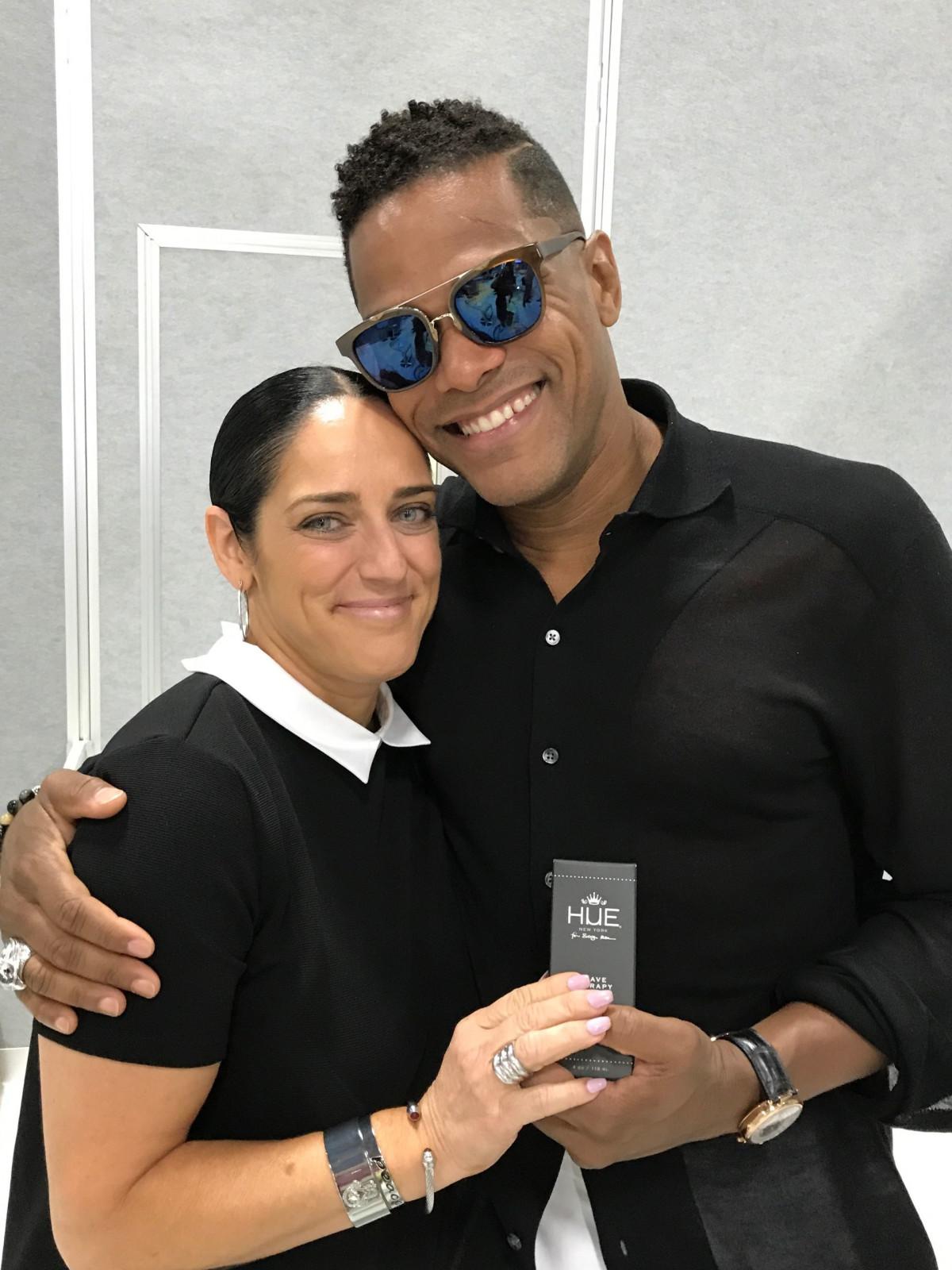 Jennifer Estrada and Maxwell at Cosmoprof 2017
