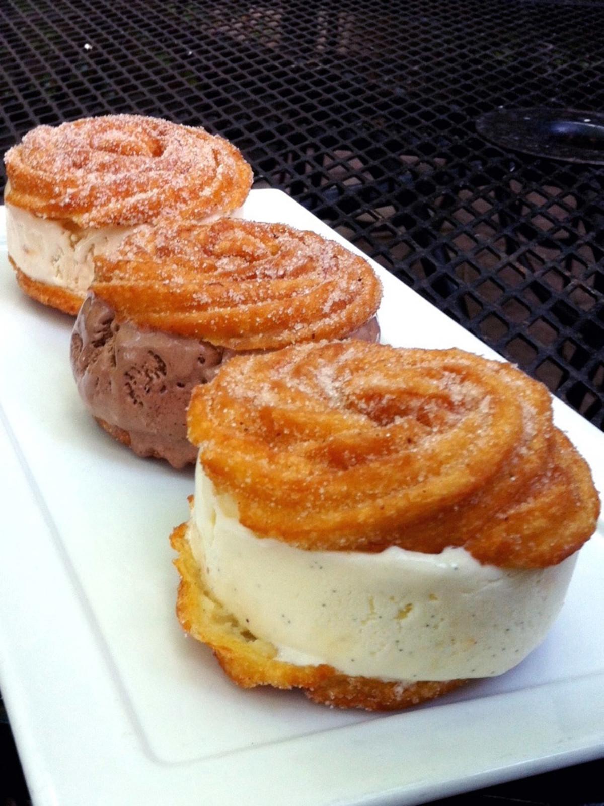 Houston, creative churros, July 2017, Caracol, Churros Ice Cream Sandwich