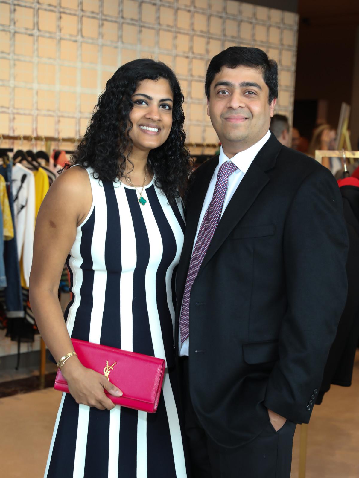 Ishwaria and Vivek Subbiah at Houston Grand Opera party at The Webster