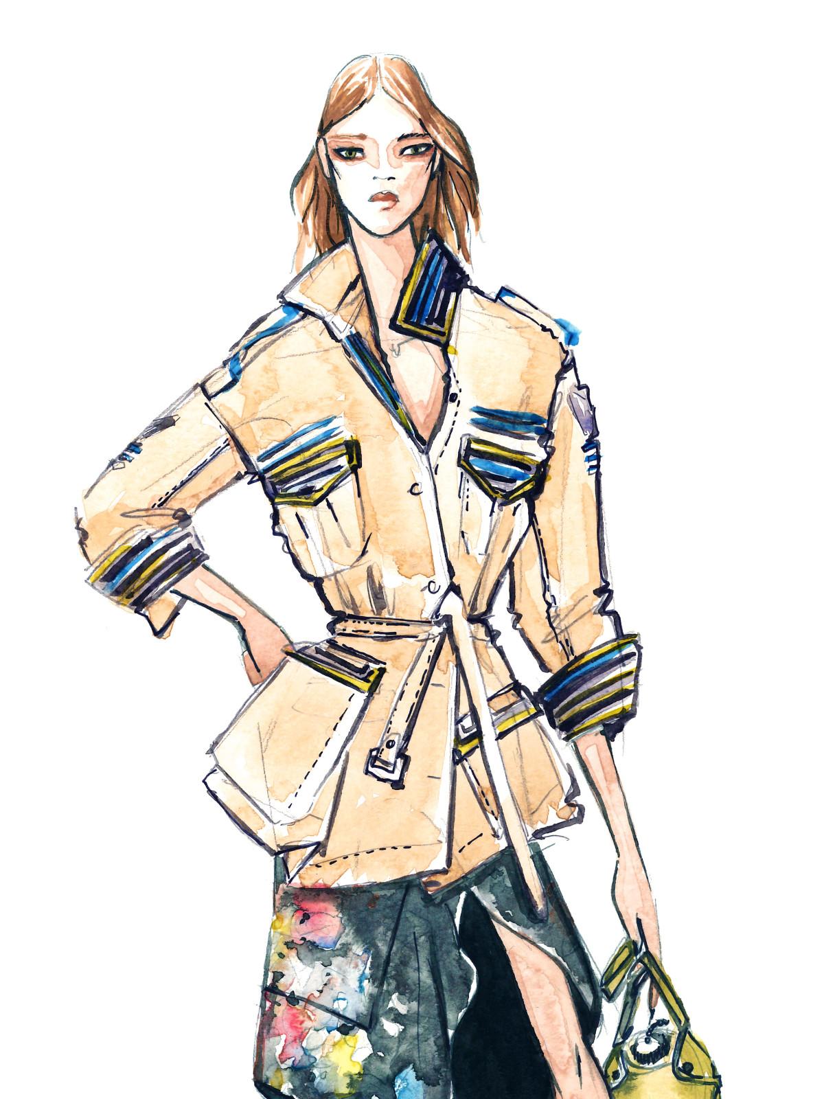 Nicole Miller designer inspiration sketch spring 2018