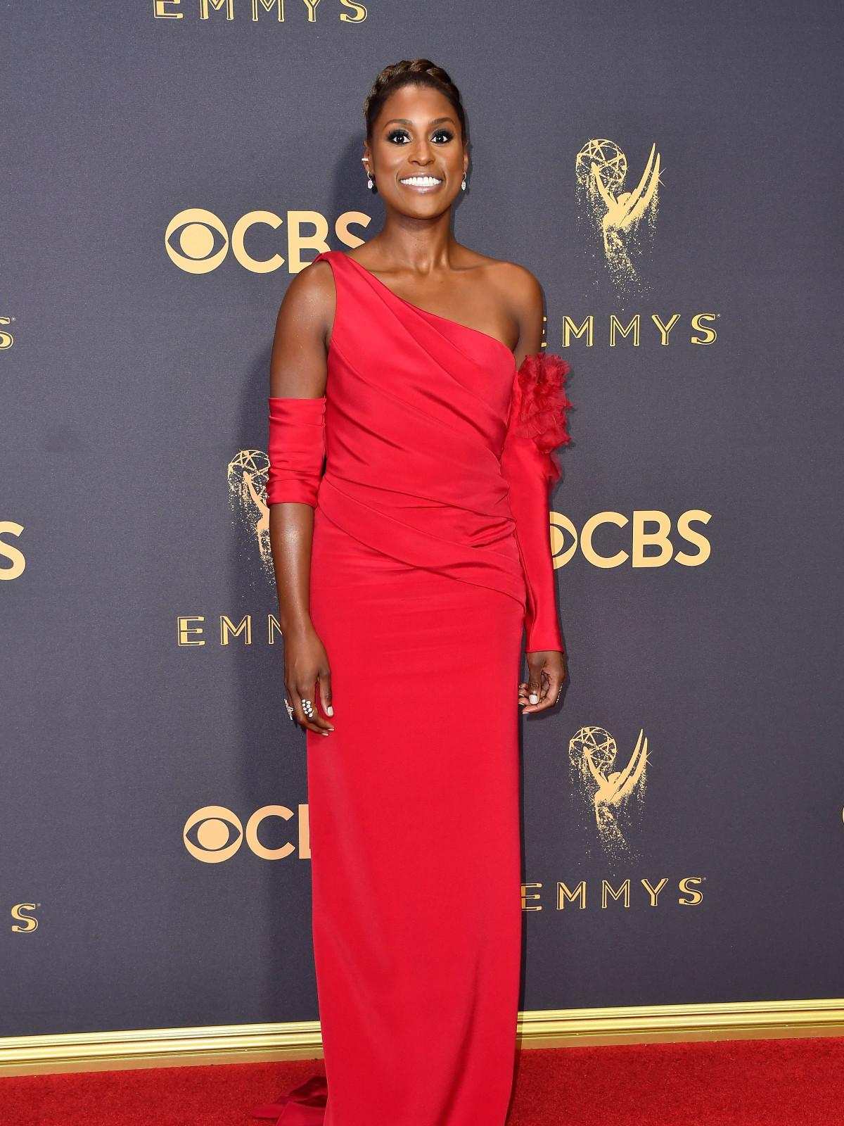Issa Rae in Vera Wang at Emmy Awards 2017