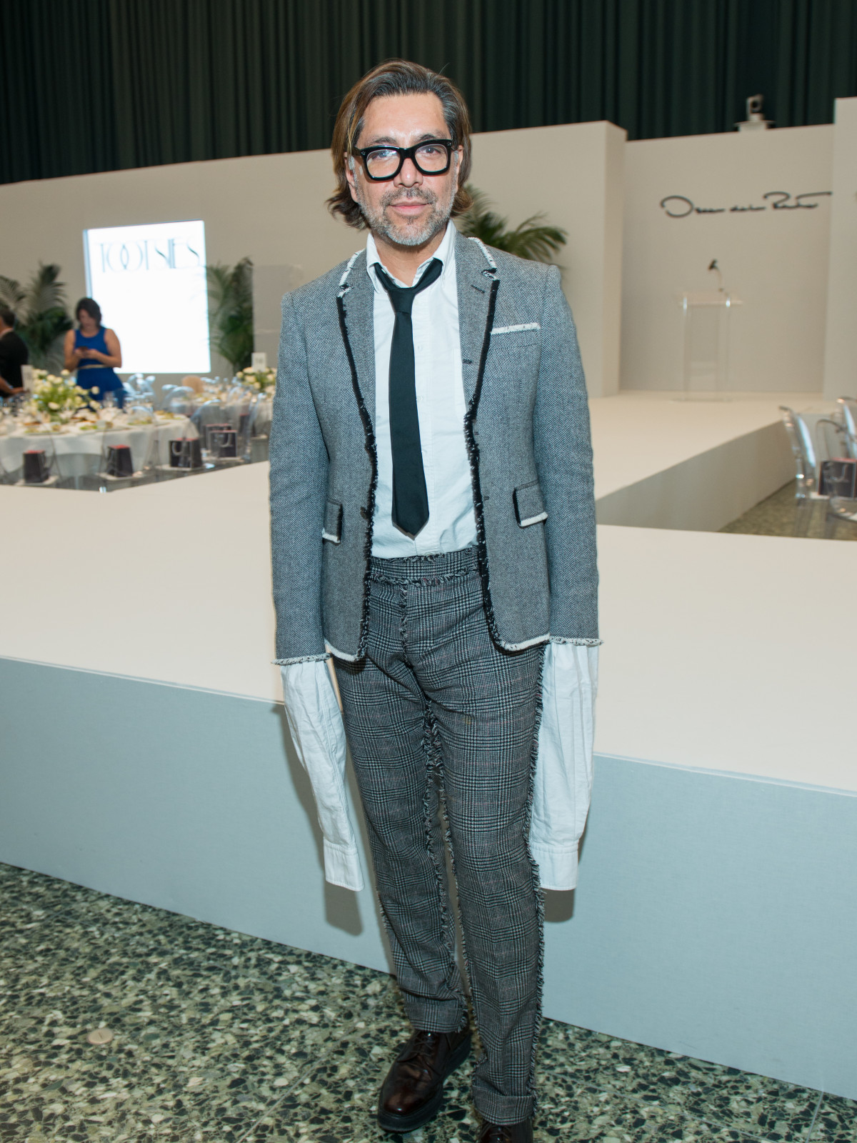 Ceron at Oscar de la Renta fashion show at MFAH