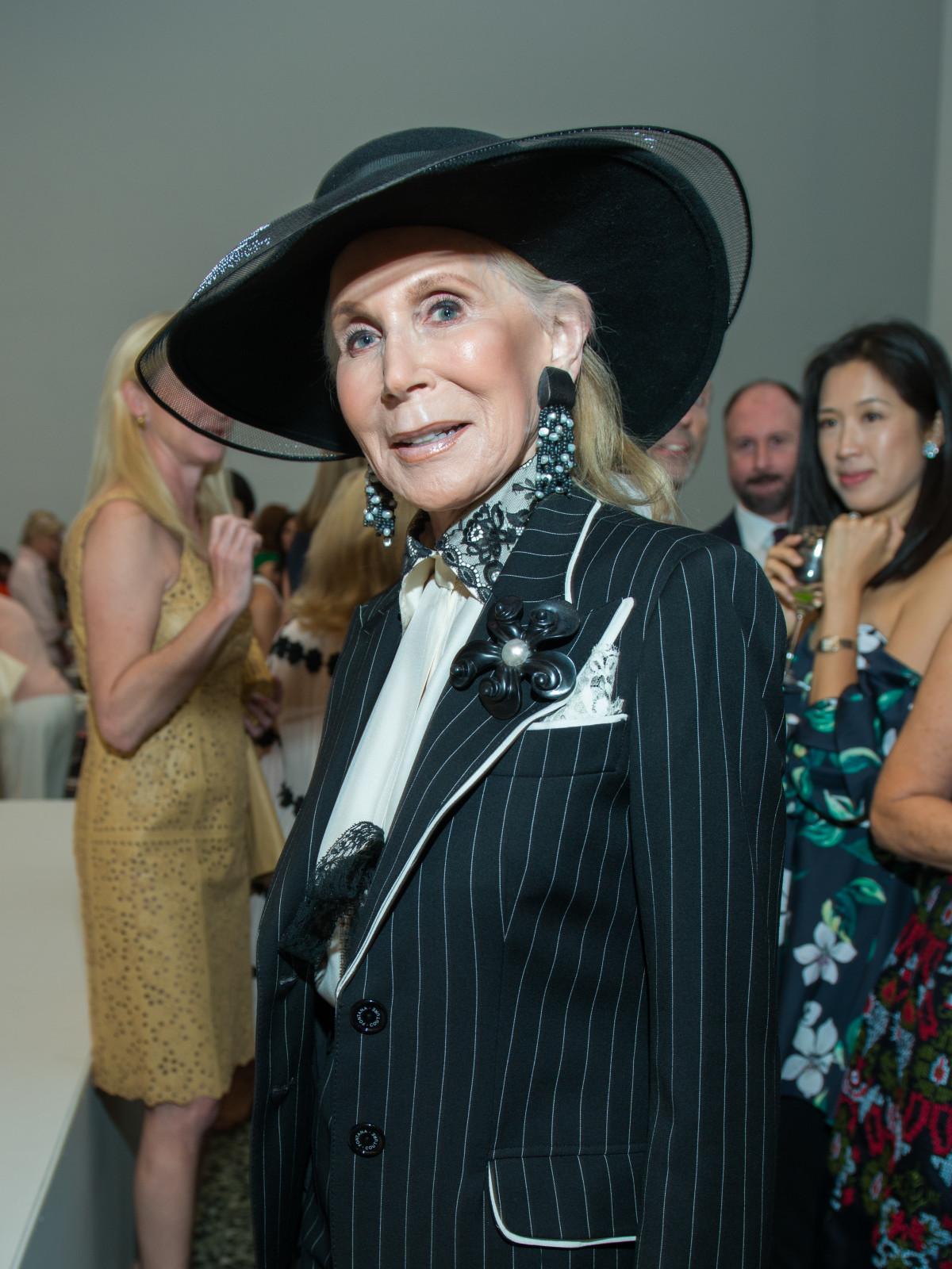 Joan Schnitzer Levy at Oscar de la Renta fashion show at MFAH