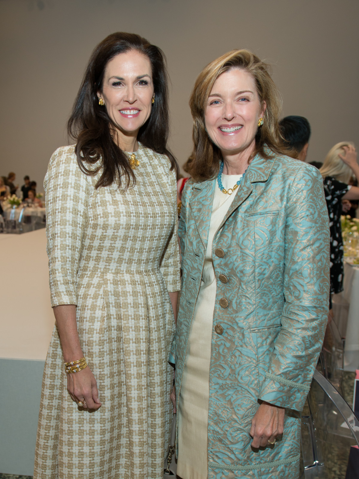 Kathleen Pressler, Carrie Pepi at Oscar de la Renta fashion show at MFAH