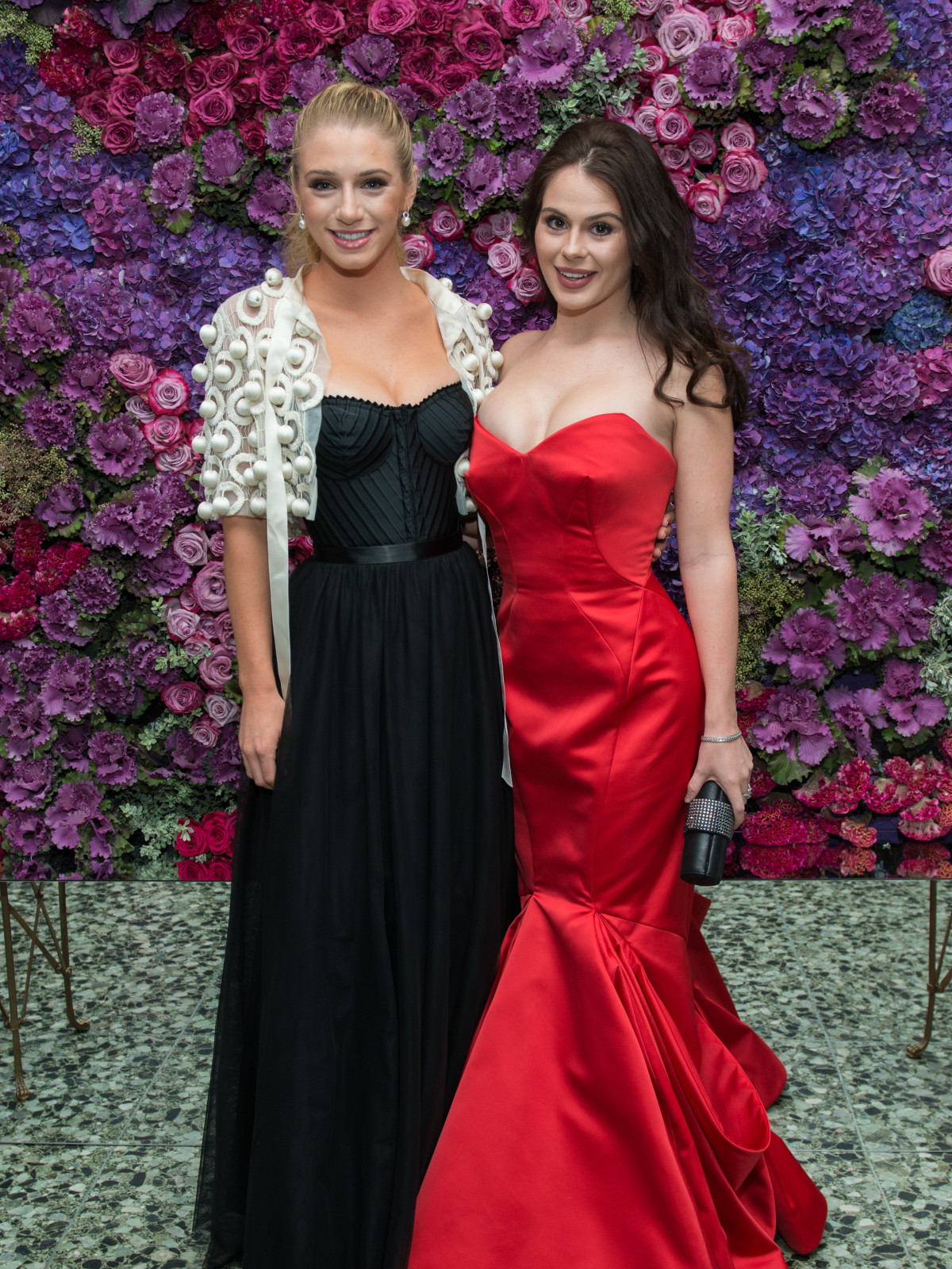 Alanna Flores, Meredith Flores daughters at MFAH Grand Gala Ball 2017