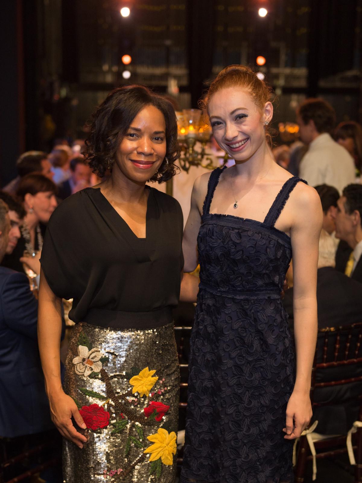 Gillian Hobson, Alyssa Springer at Houston Ballet Opening Night DInner