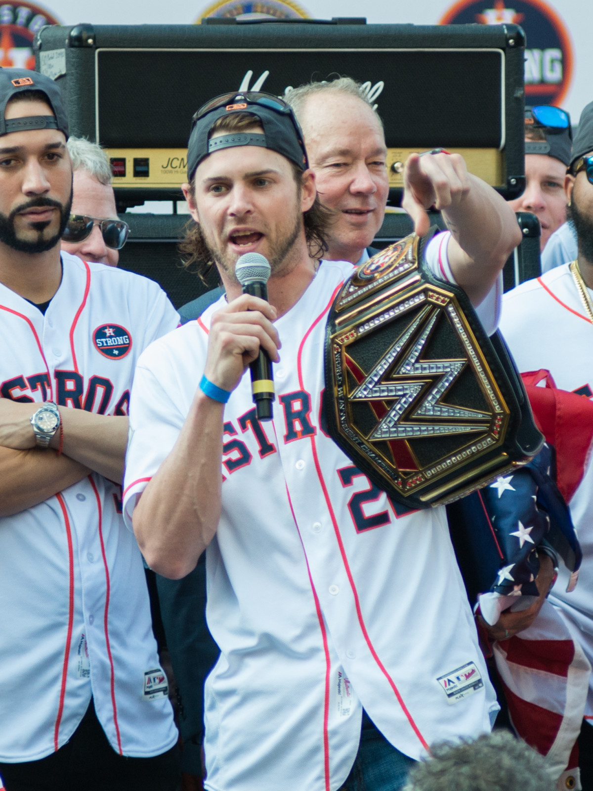 Astros World Series victory parade and rally Josh Reddick
