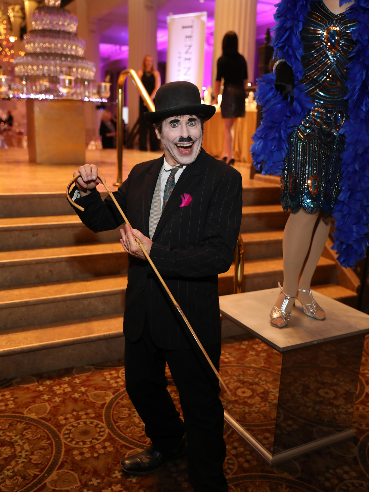 Houston, March of Dimes Signature Chefs, November 2017, Charlie Chaplin impersonator