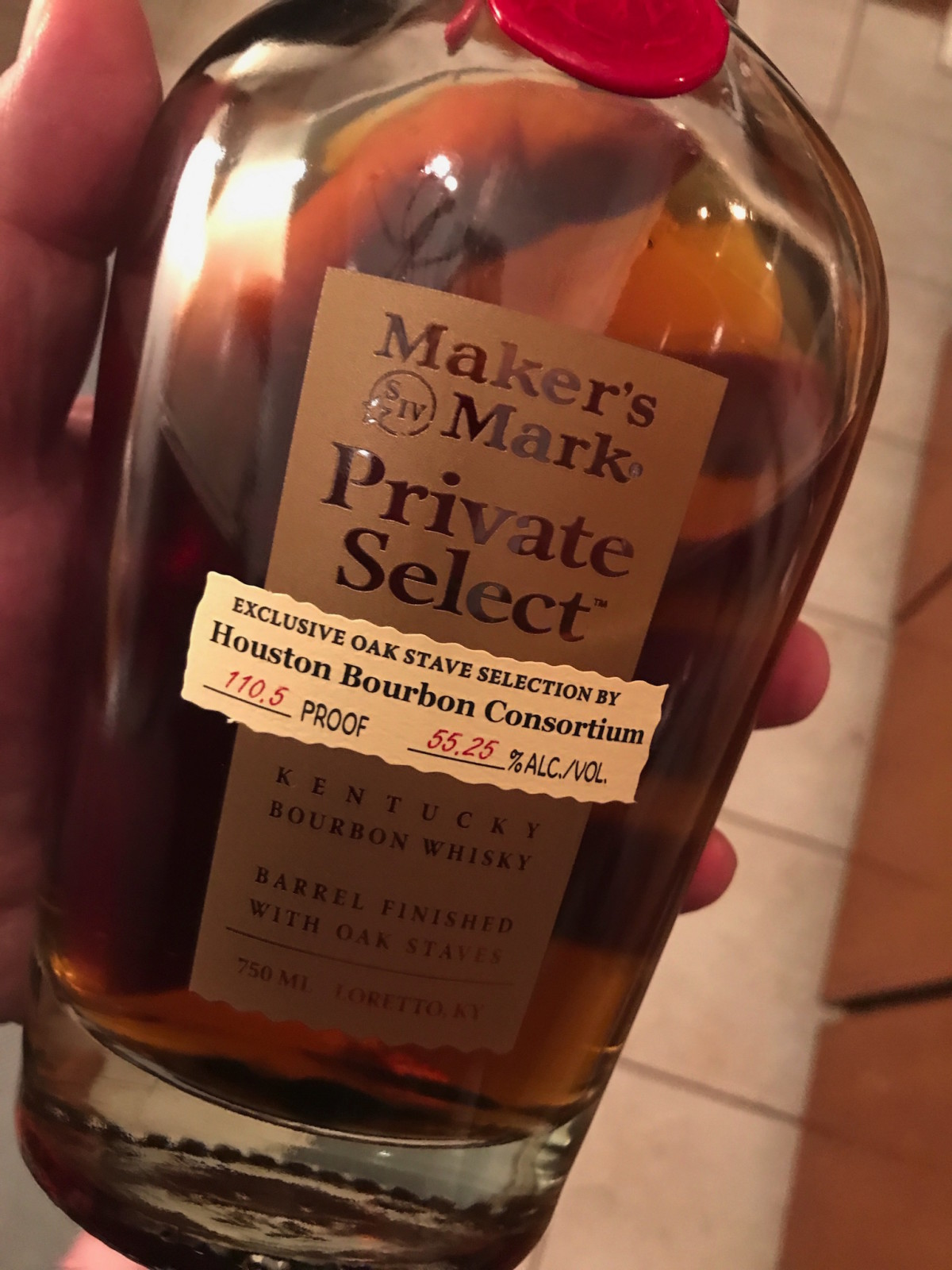 Houston Bourbon Consortium Maker's Mark bottle