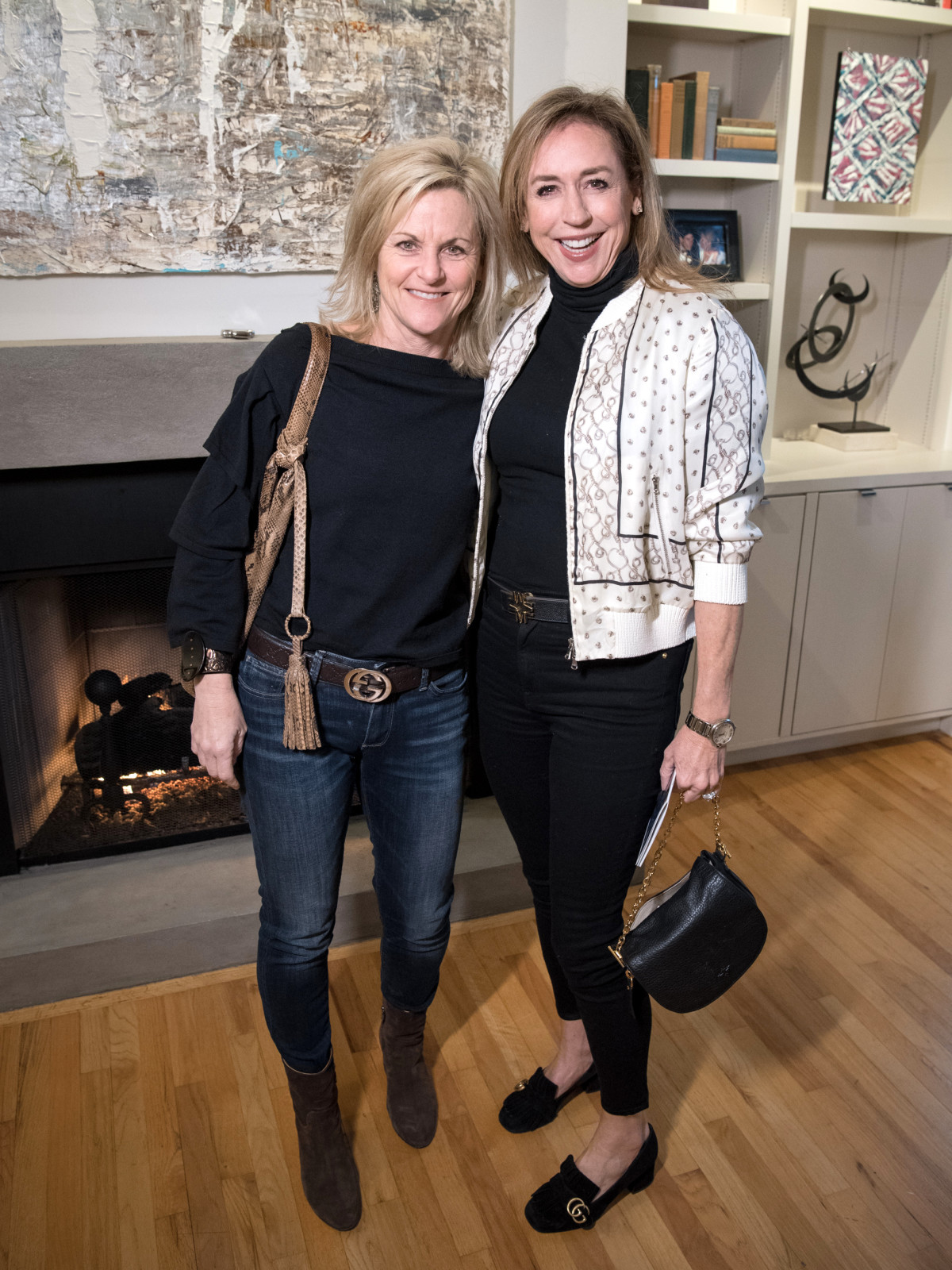 Dallas, LR Art House opening, January 2018, Sherry Conger, Melinda Russ