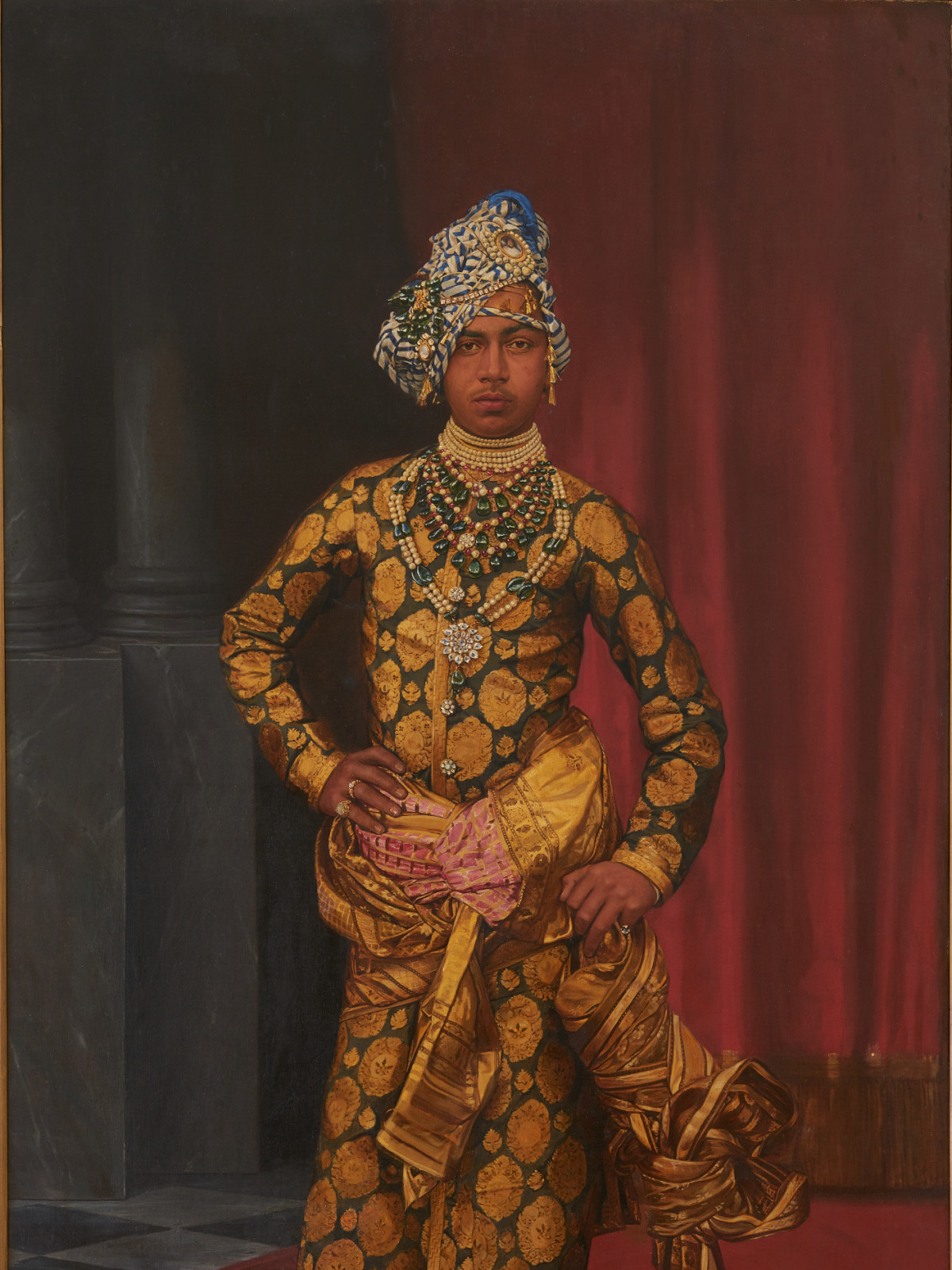 MFAH: Peacock in the Desert, Portrait of Maharaja Sardar Singh