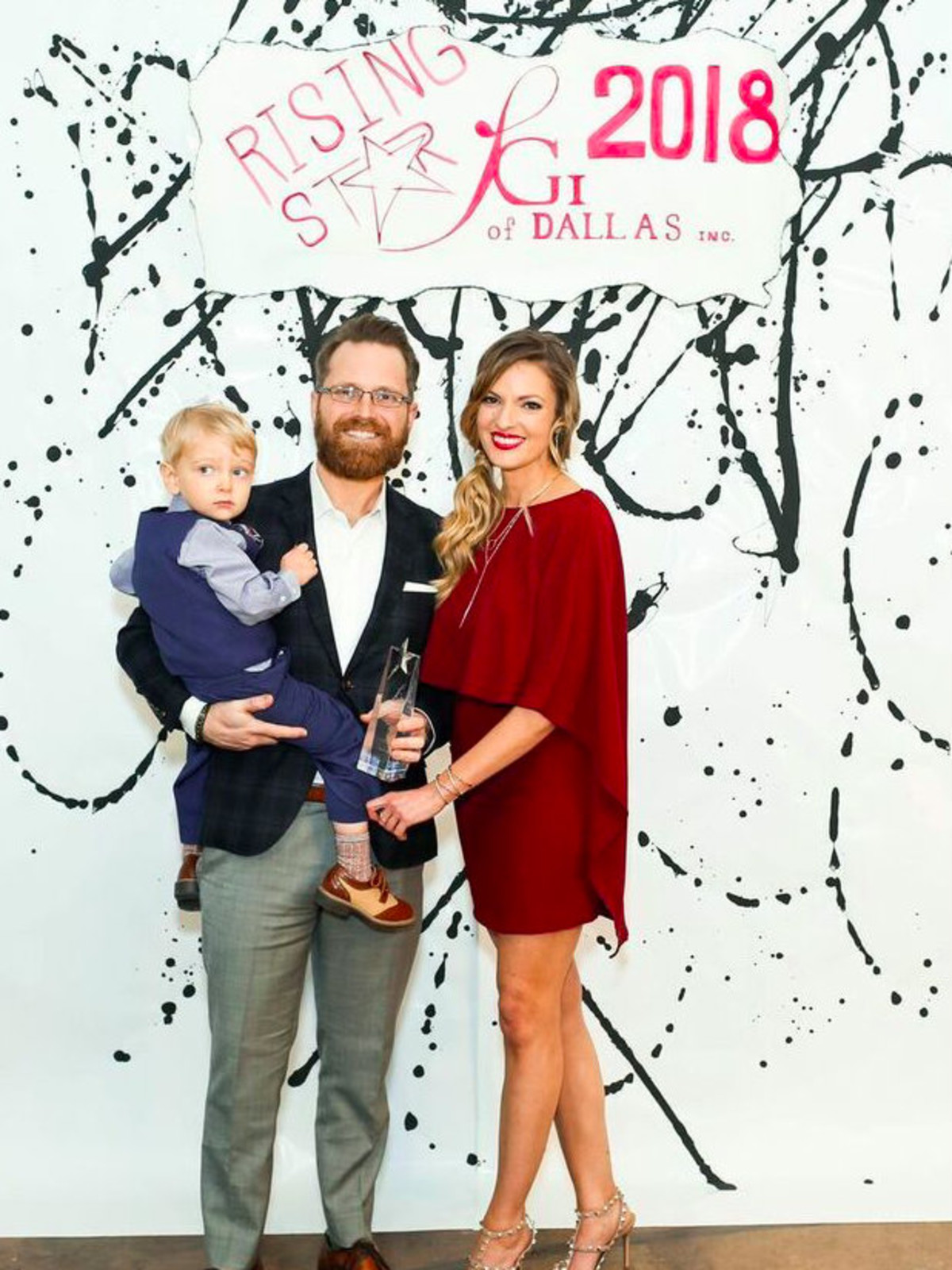 Jason Simmons, Rebekah Allen, and son, Dallas_FGI Rising Star