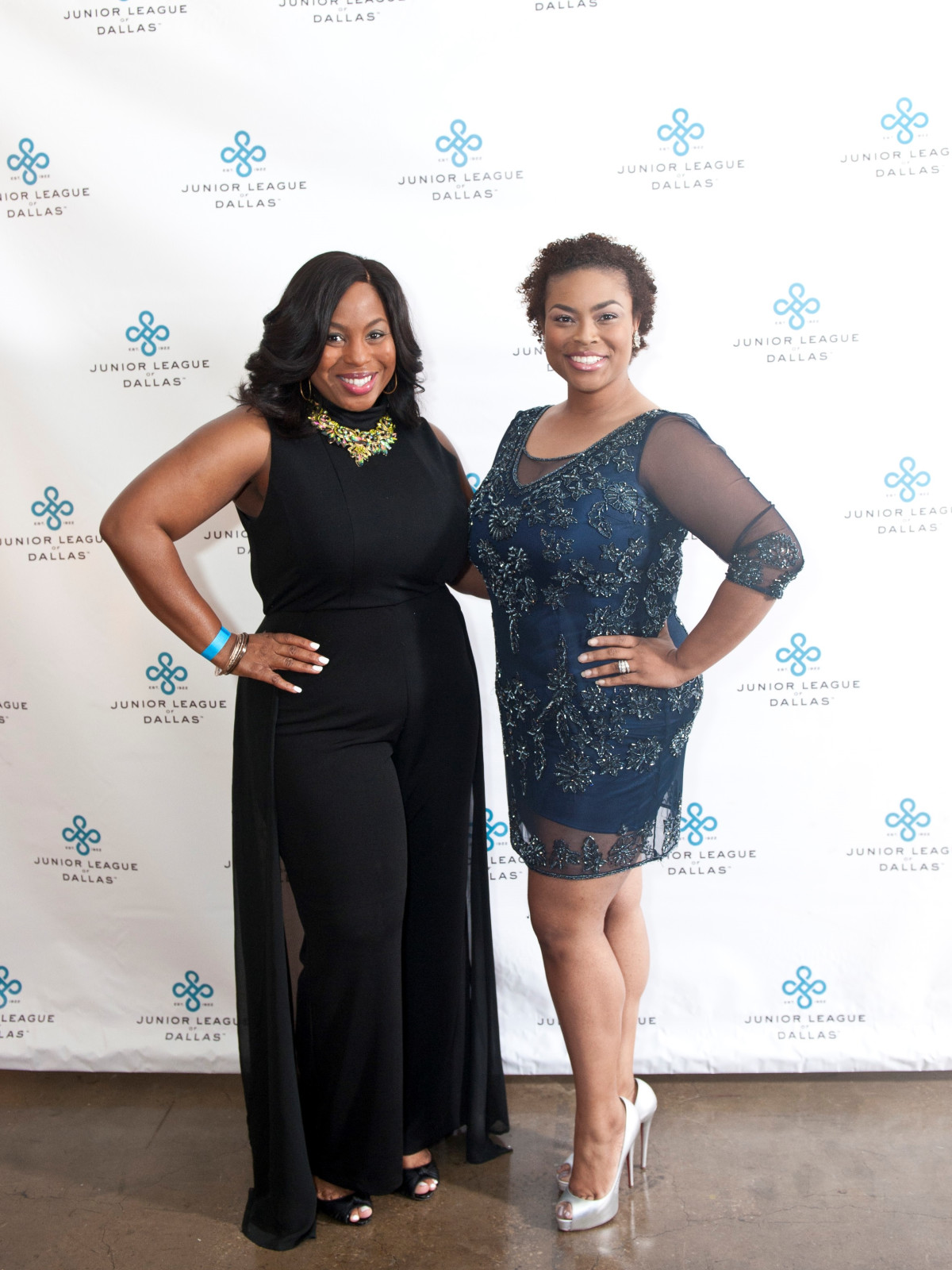 Junior League Viva Big D party 2018, Renita Garrett and Melina Mayfield