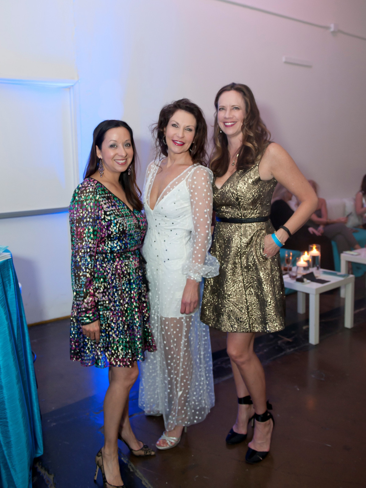 Junior League Viva Big D party 2018, Lisa Bhattacharya, Angela Nash and JB Hayes