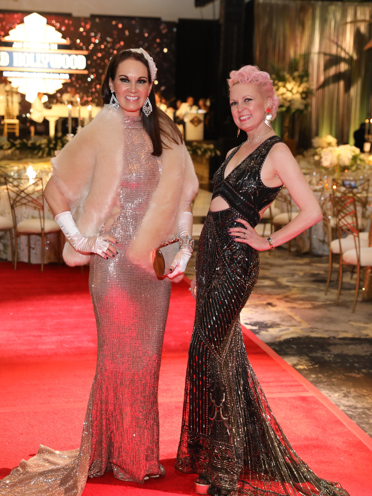 Opera Ball gowns Beth Muecke and Vivian Wise