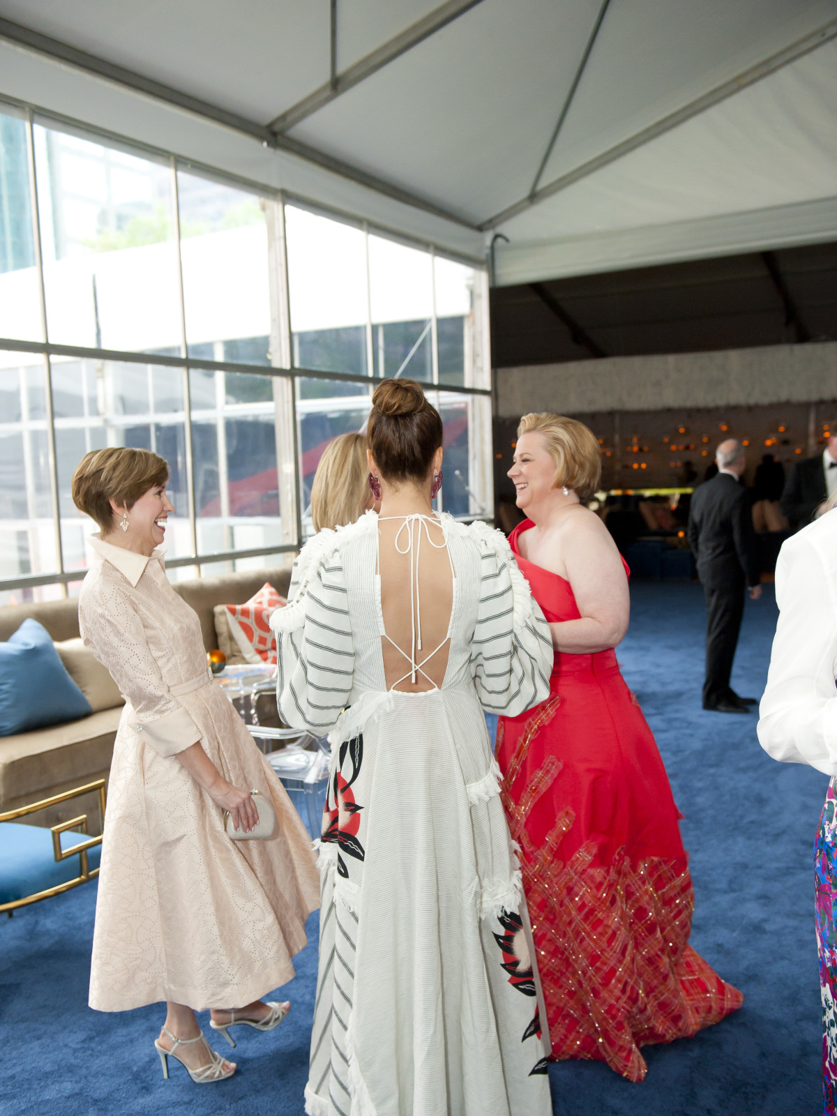 The back of Catherine Rose's dress