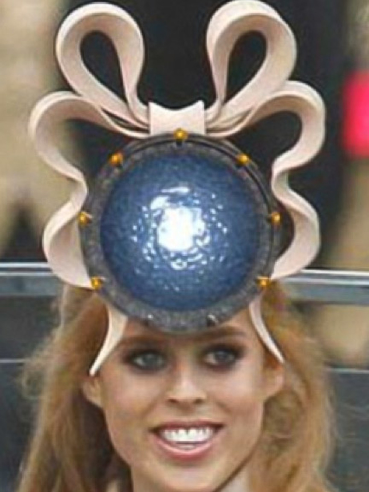 82b3bee252452 Royal fascinator  Princess Beatrice auctions off the ugliest hat ev ...