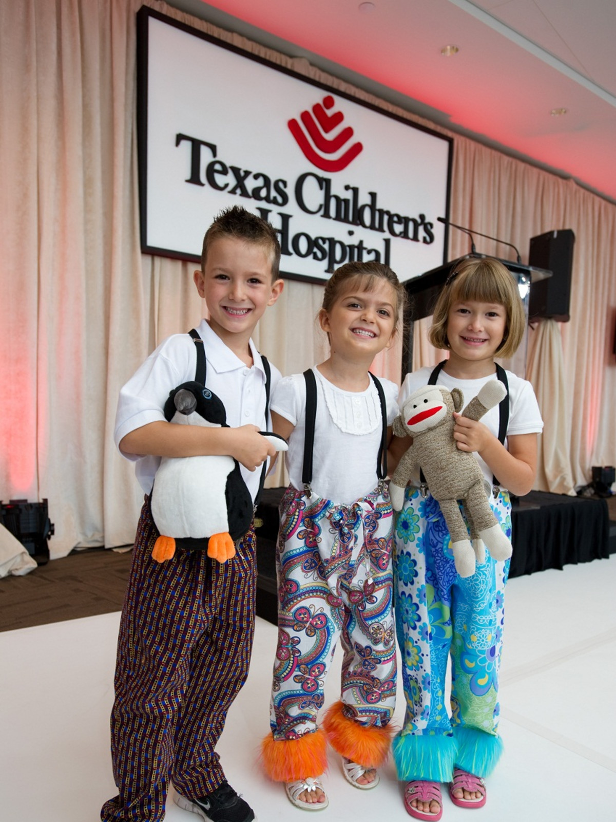 Bad Pants Fashion Show, Texas Children's Hospital, Aiden Questell, Alexa Questell, Evelyn Questell,